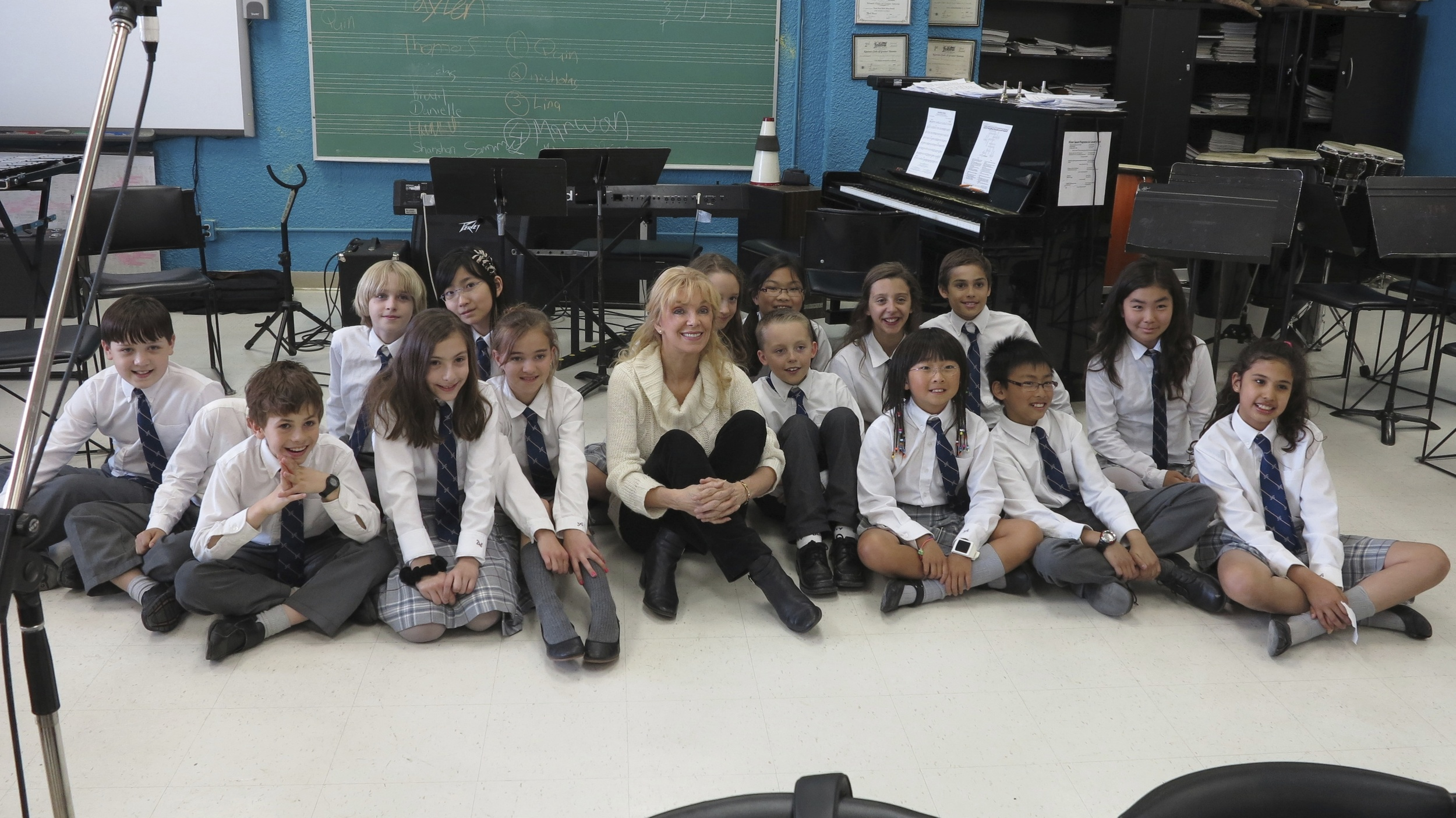"""2013 with Toronto French School, on location recording for """"The Return…"""""""