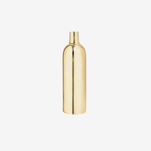 Polished Brass Bottle Vase made in Sweden