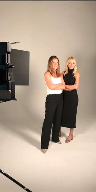 Claire and Lindsay behind the scenes.JPG
