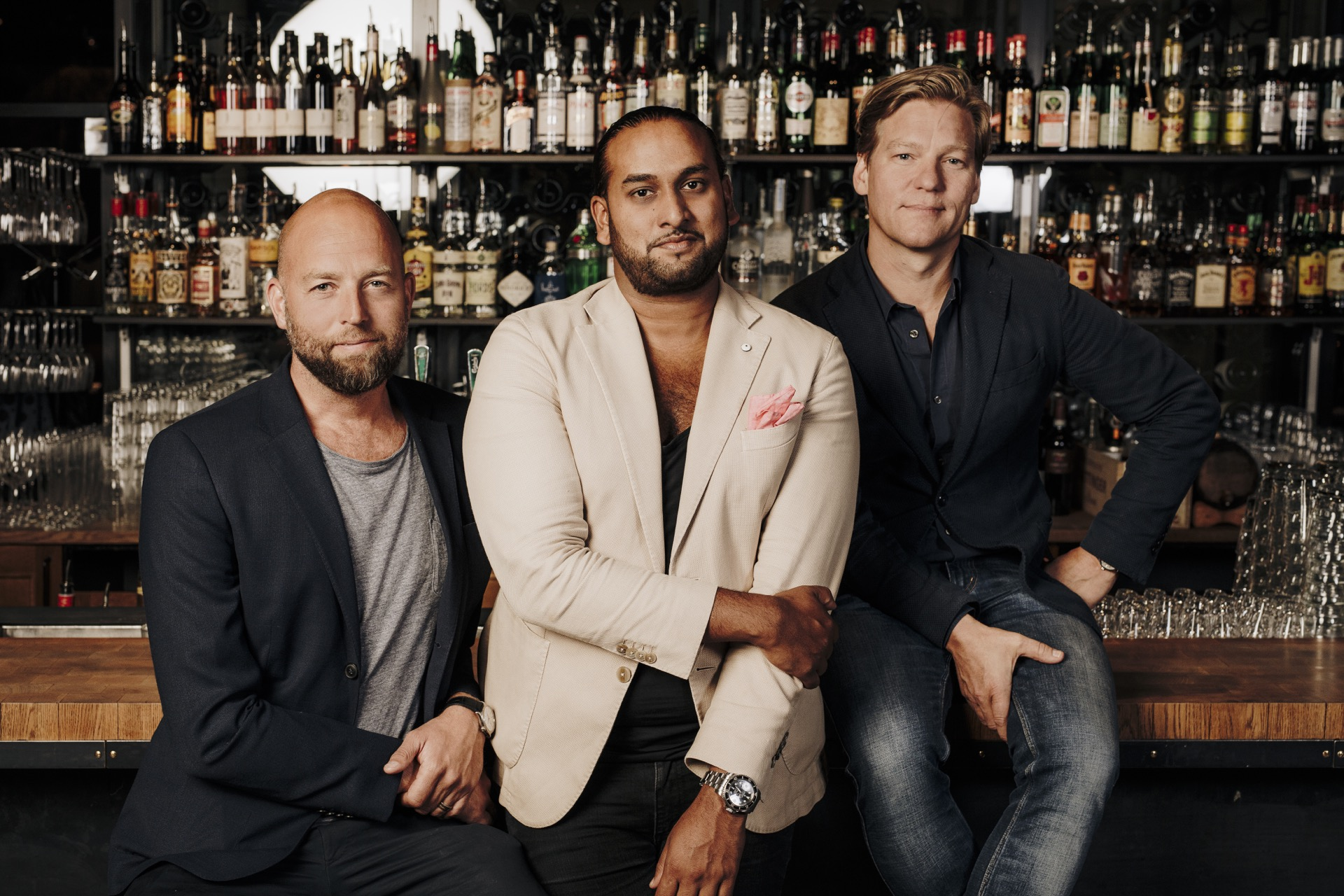 Haga Bottegas grundare Christian Olsson, Niklas Odin och Kristofer Sandström.