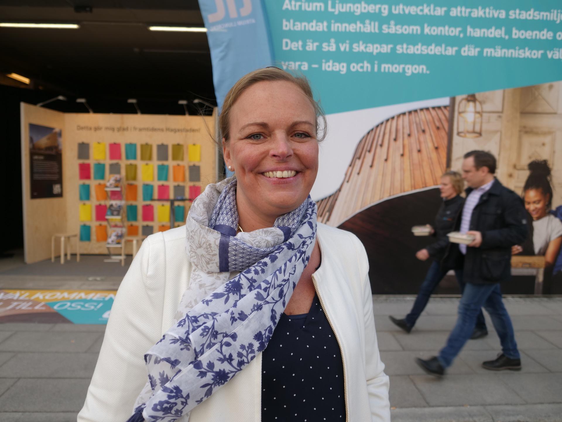 Camilla Klint marknadsområdeschef Hagastaden påAtrium Ljungberg