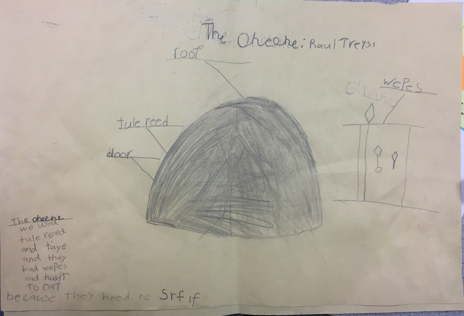 """Parts"" Diagram of the Ohlone Tule Reed Homes"