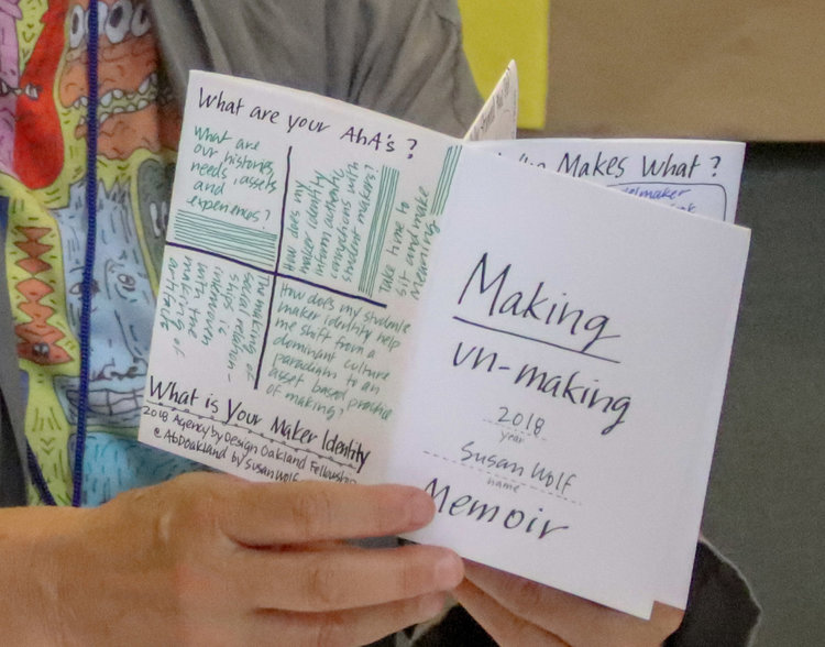 MAKING AND UN-MAKING MEMOIR: A DOWNLOADABLE & INTERACTIVE ZINE   By  Susan Wolf , 2017-2018 Teaching Fellow & Arts Integration Specialist, Alameda County Office of Education