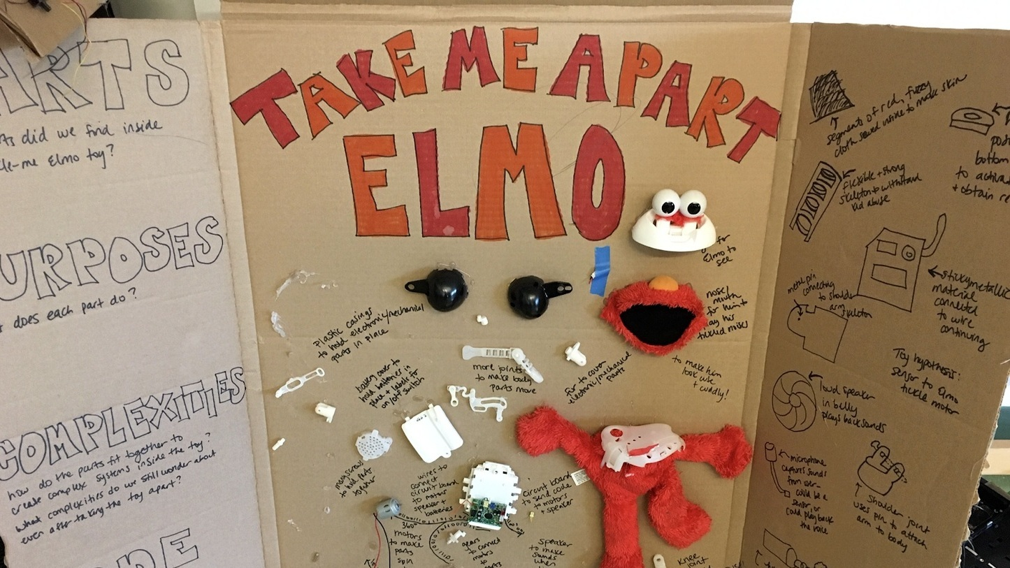 THIS IS WHAT HAPPENS WHEN YOU TAKE APART ELMO…   By  Bridget Rigby , 2018-2019 Teaching Fellow, Programming & Design Teacher, Lighthouse Community Charter School, Oakland
