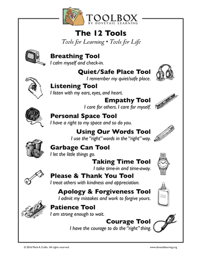 The 12 Tools from TOOLBOX (by Dovetail Learning).