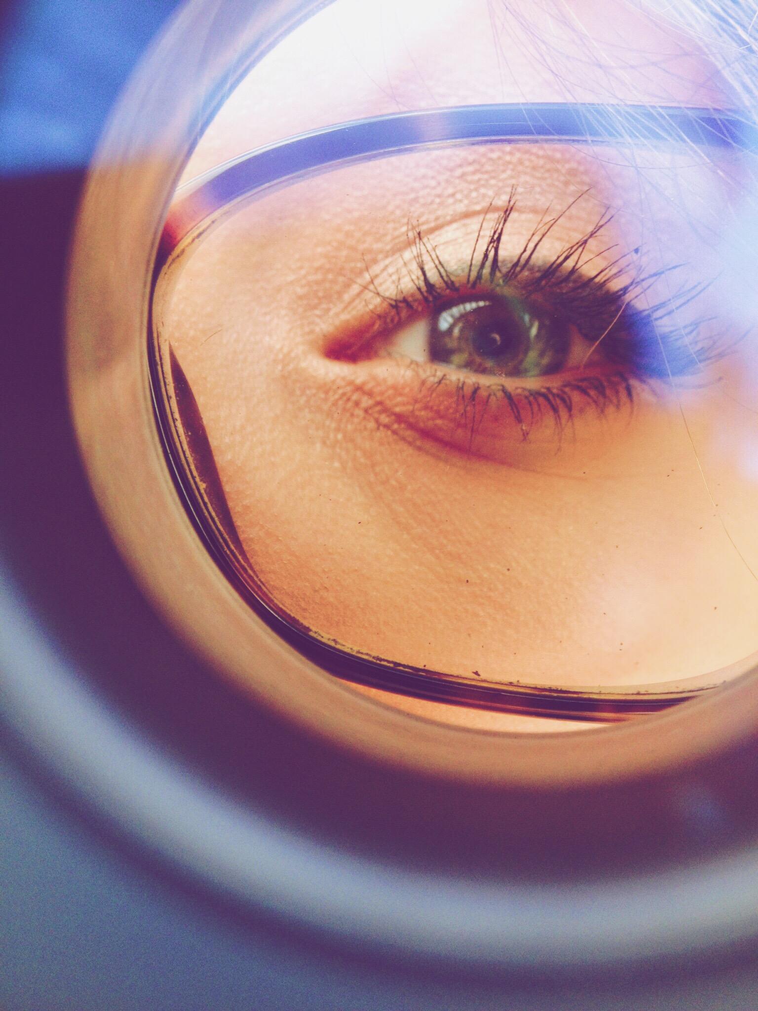 This is my eye shot through a loop.