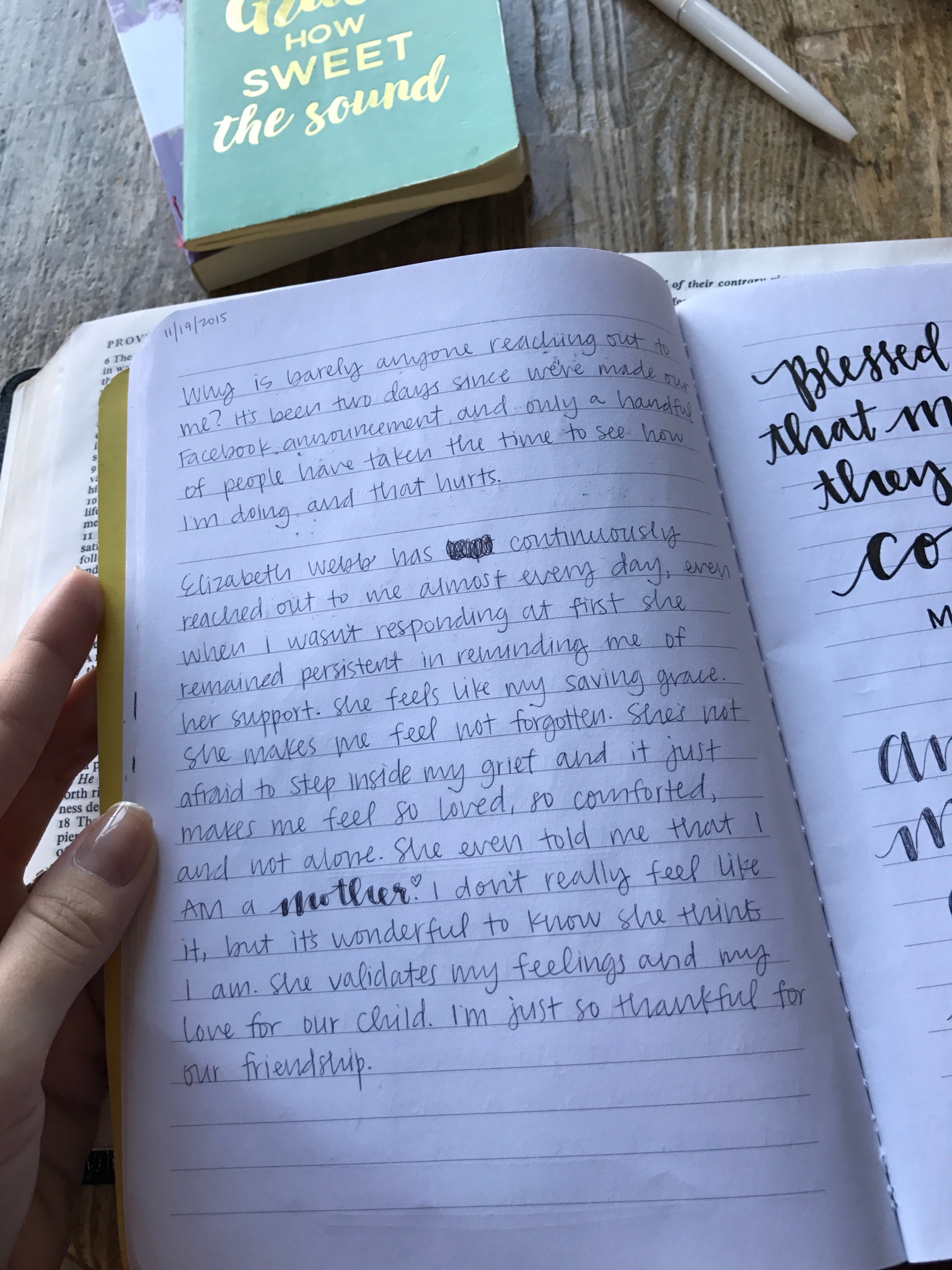 """In my journal I wrote that Elizabeth was my """"saving grace"""" only four days after my loss. Such a blessing from the Lord!"""