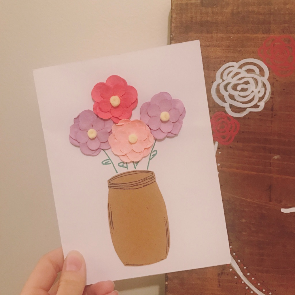 I received the sweetest card from Krystal from  With Love, Genesis & Joy  earlier this week. You can sign up and request a card on her website! Such perfect timing.
