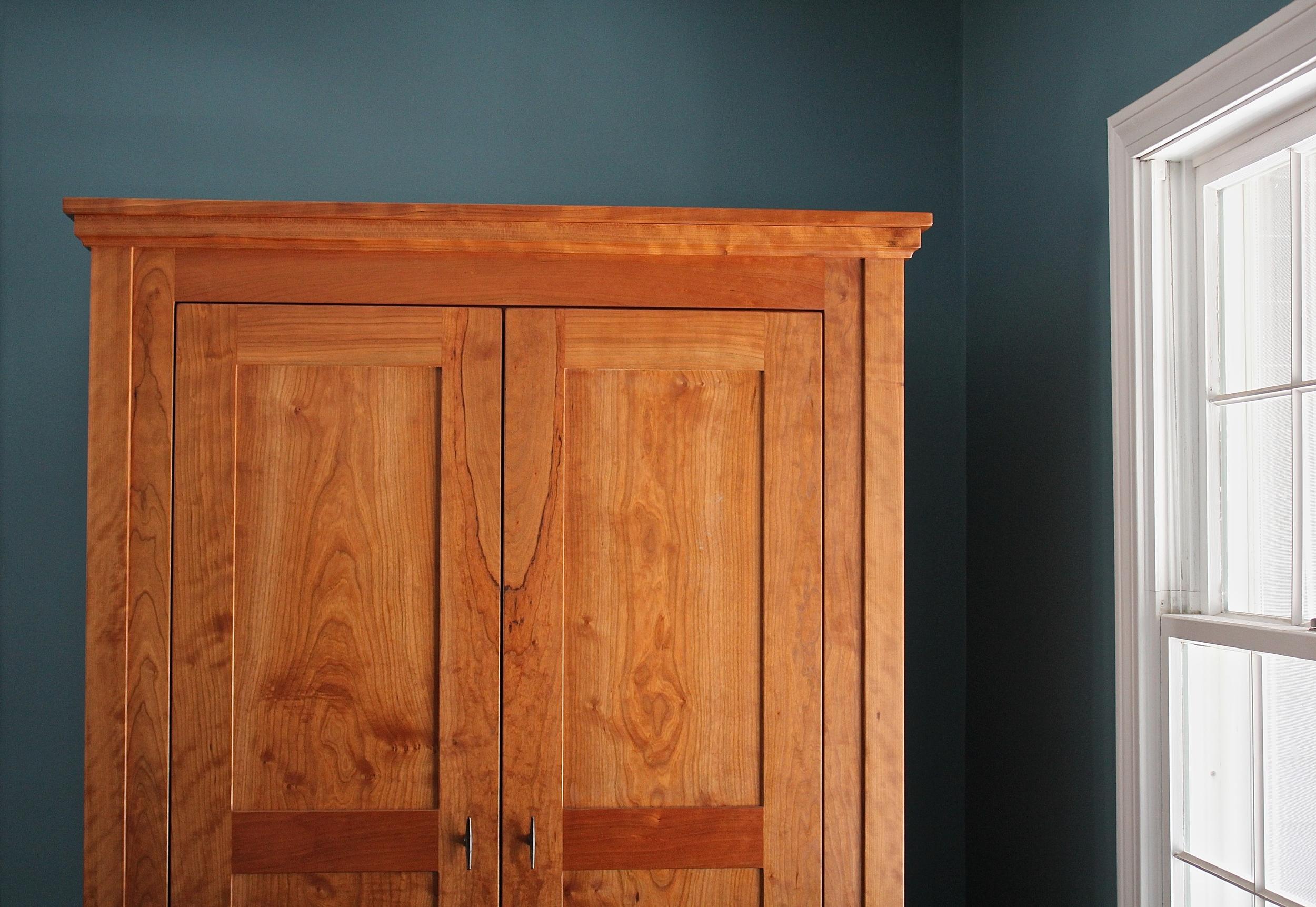 Emily & Corey's cherry armoire.