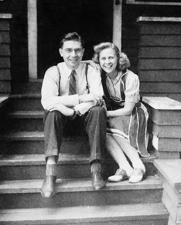 Newlyweds Ernie and Ilene Rockstad, 1942.