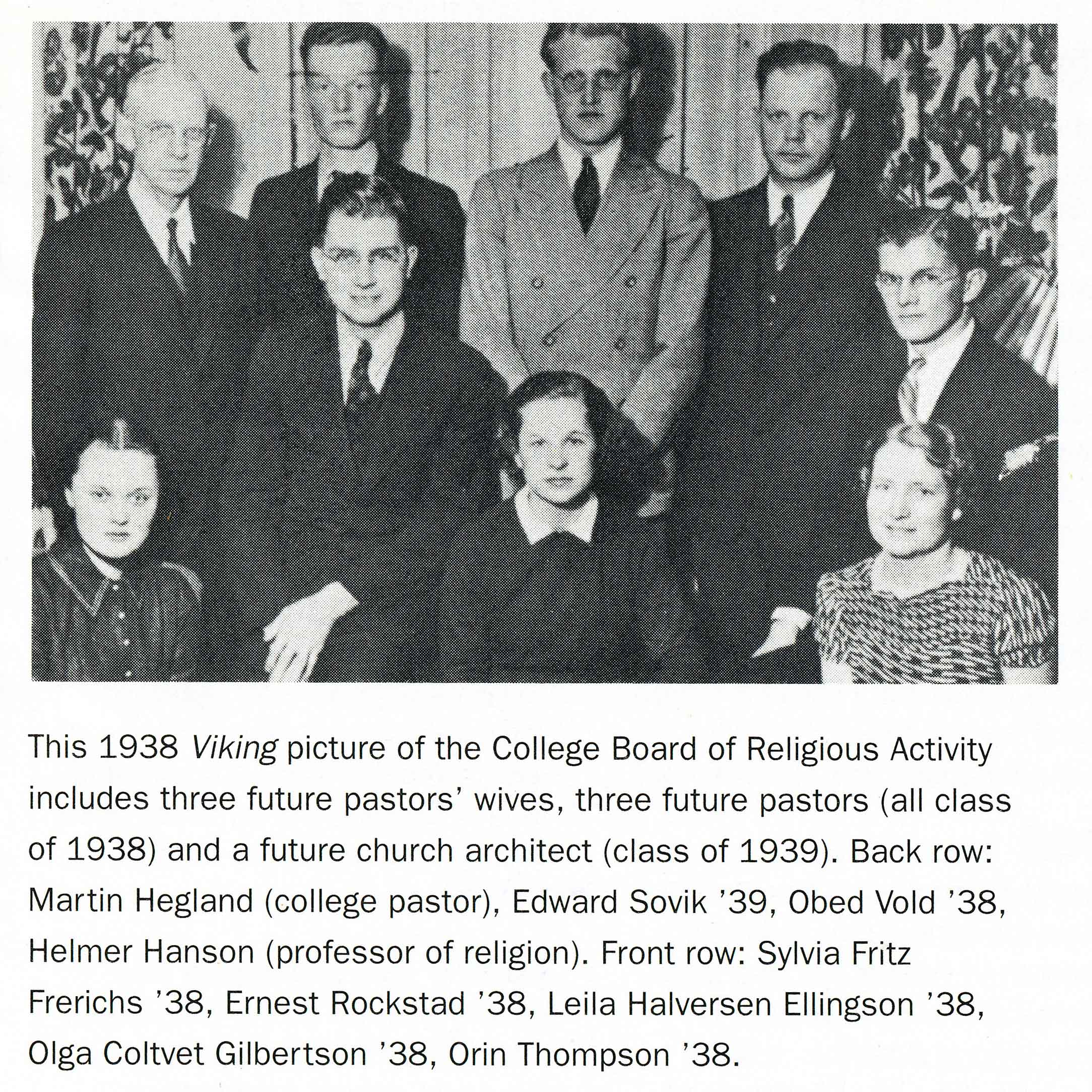 Clipping from a 1992 St.Olaf Magazine article featuring members of the class of 1938 and 1939.