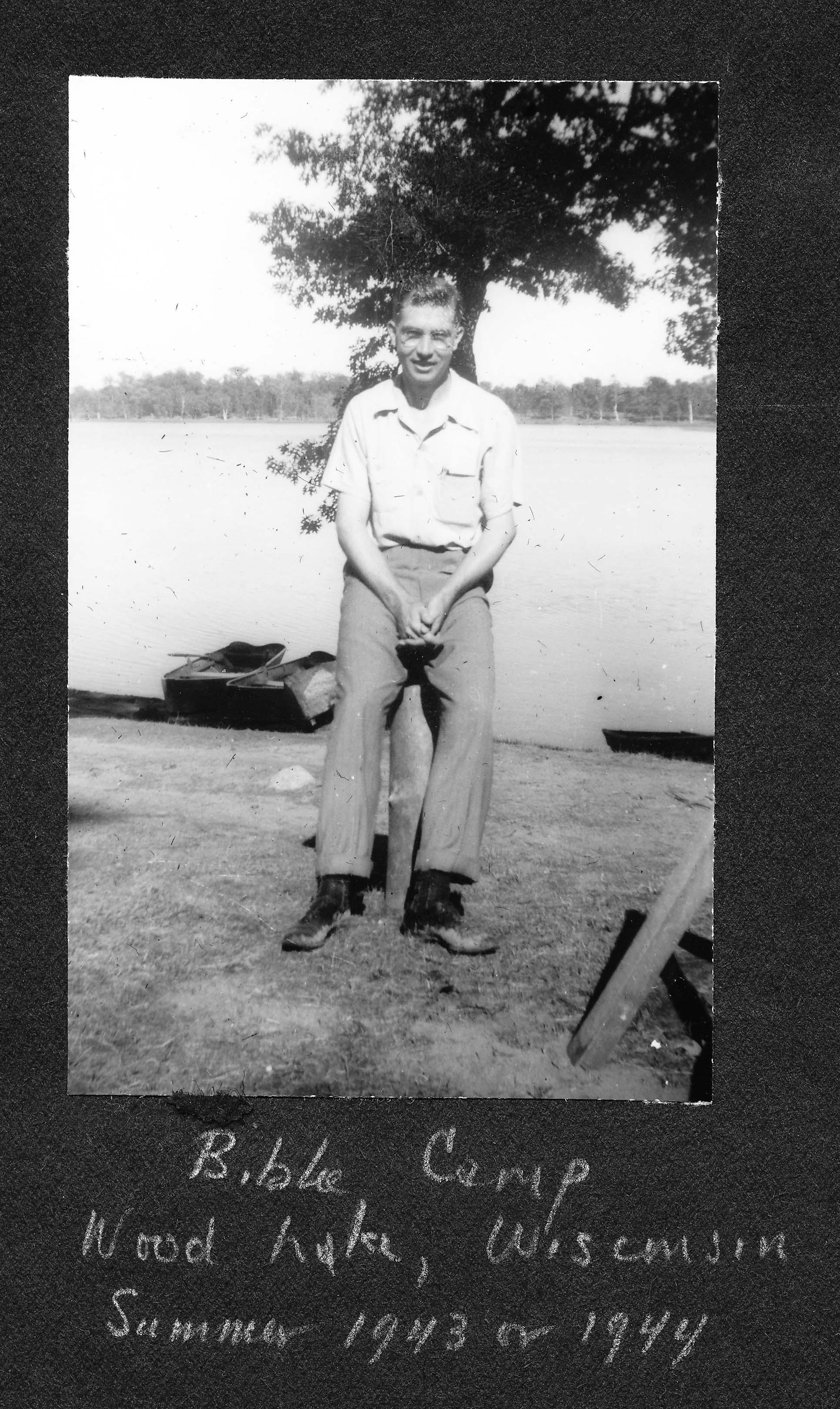 Bible Camp, Wood Lake, WI 1943 or 1944