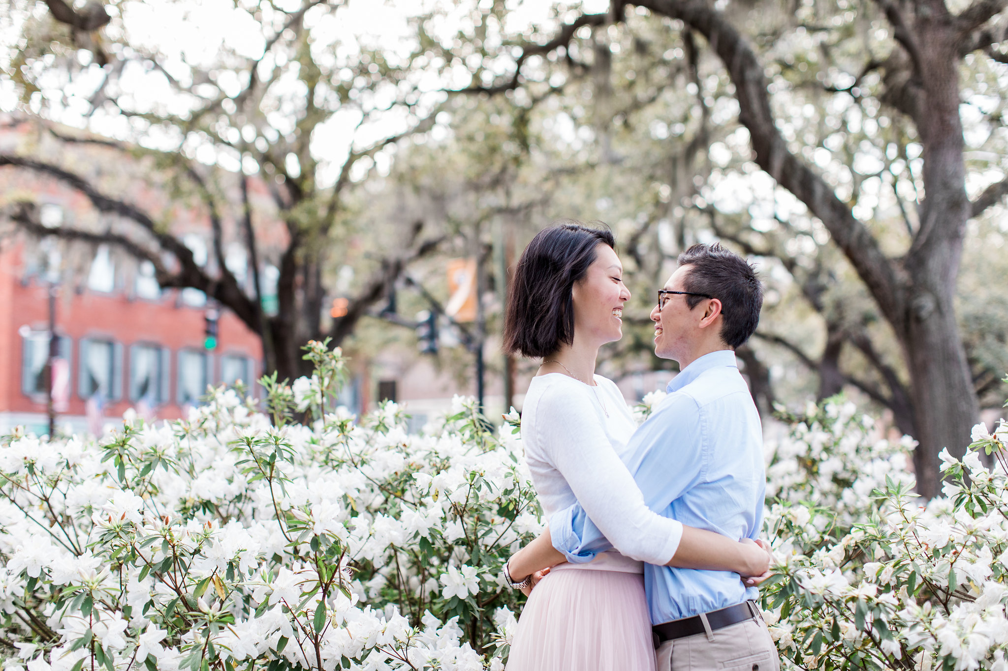 Suzanne + Gordon - Historic Savannah and River St. Engagement Session | Apt. B Photography