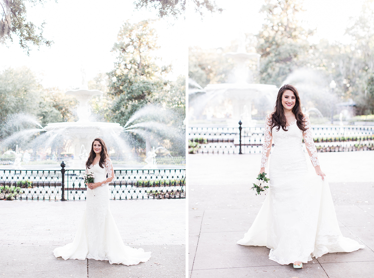 Rosie's Bridal Session in Forsyth Park Savannah, Georgia | Savannah Wedding Photographer | Apt. B Photography
