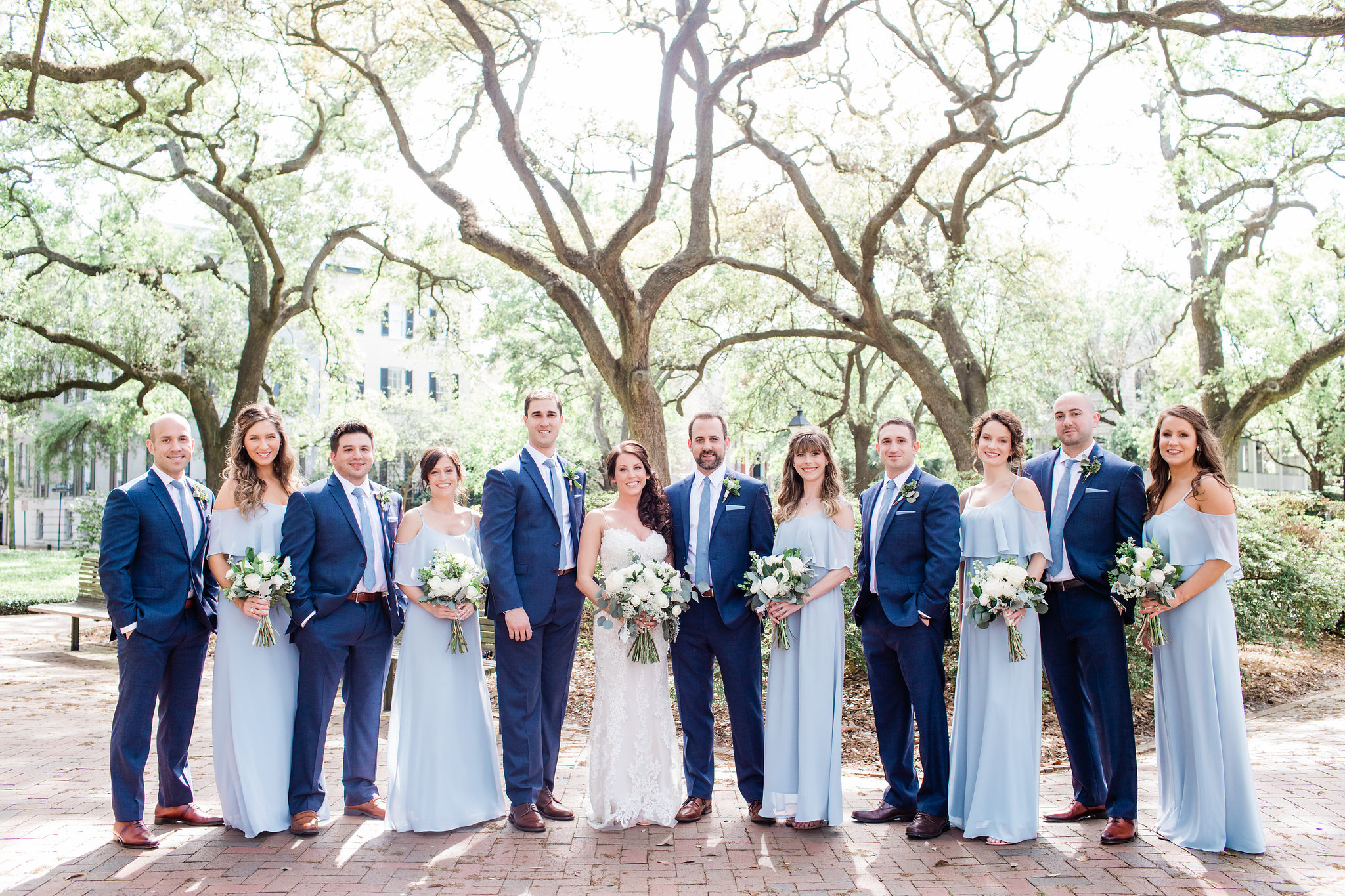 Michelle + Scott - Intimate Savannah Wedding at Soho South Cafe, soft blue bridesmaids dresses | Apt. B Photography
