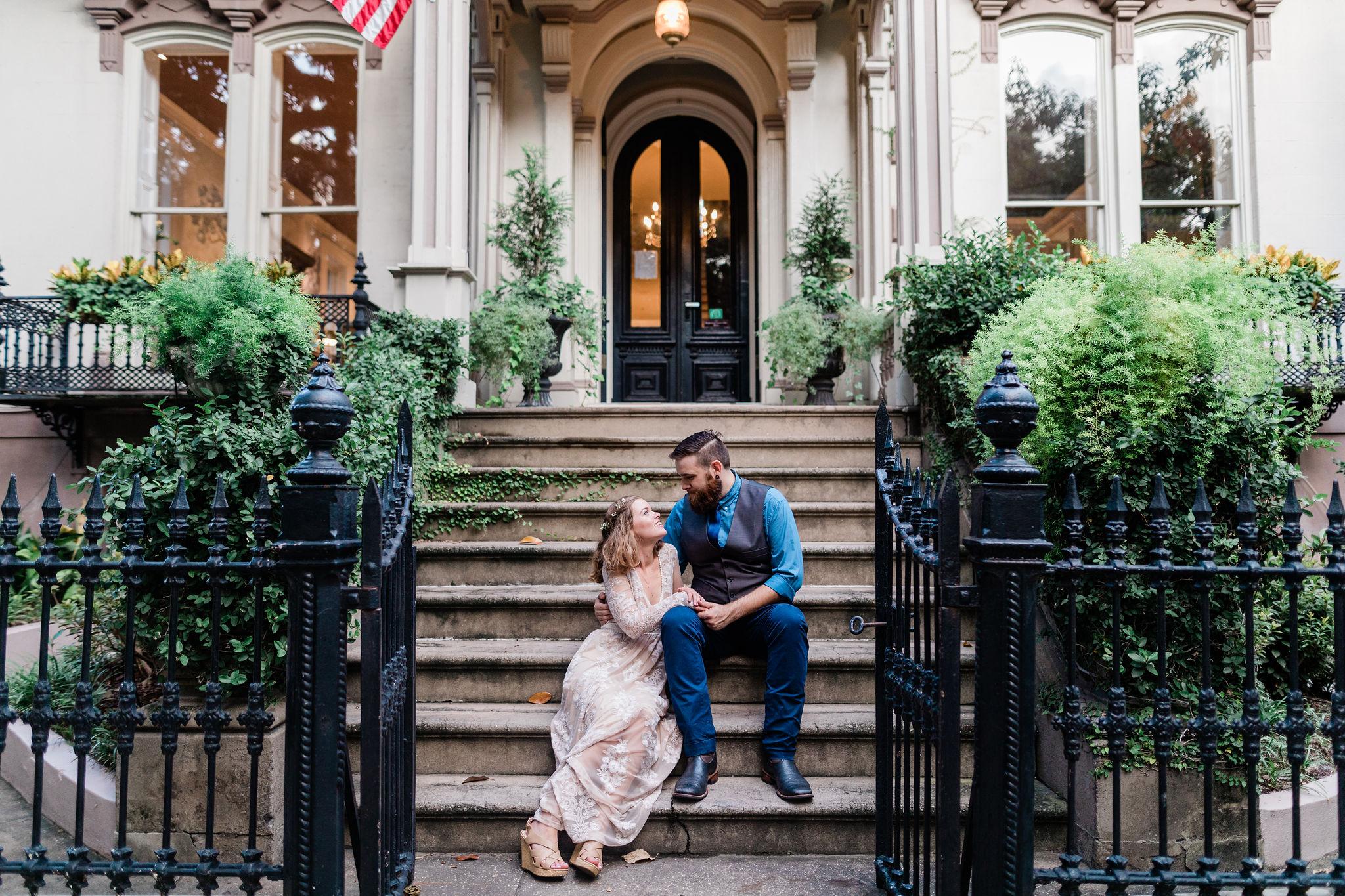 Rachael + Eric - Savannah Elopement in Lafayette Square | Historic Savannah Elopement | Apt. B Photography