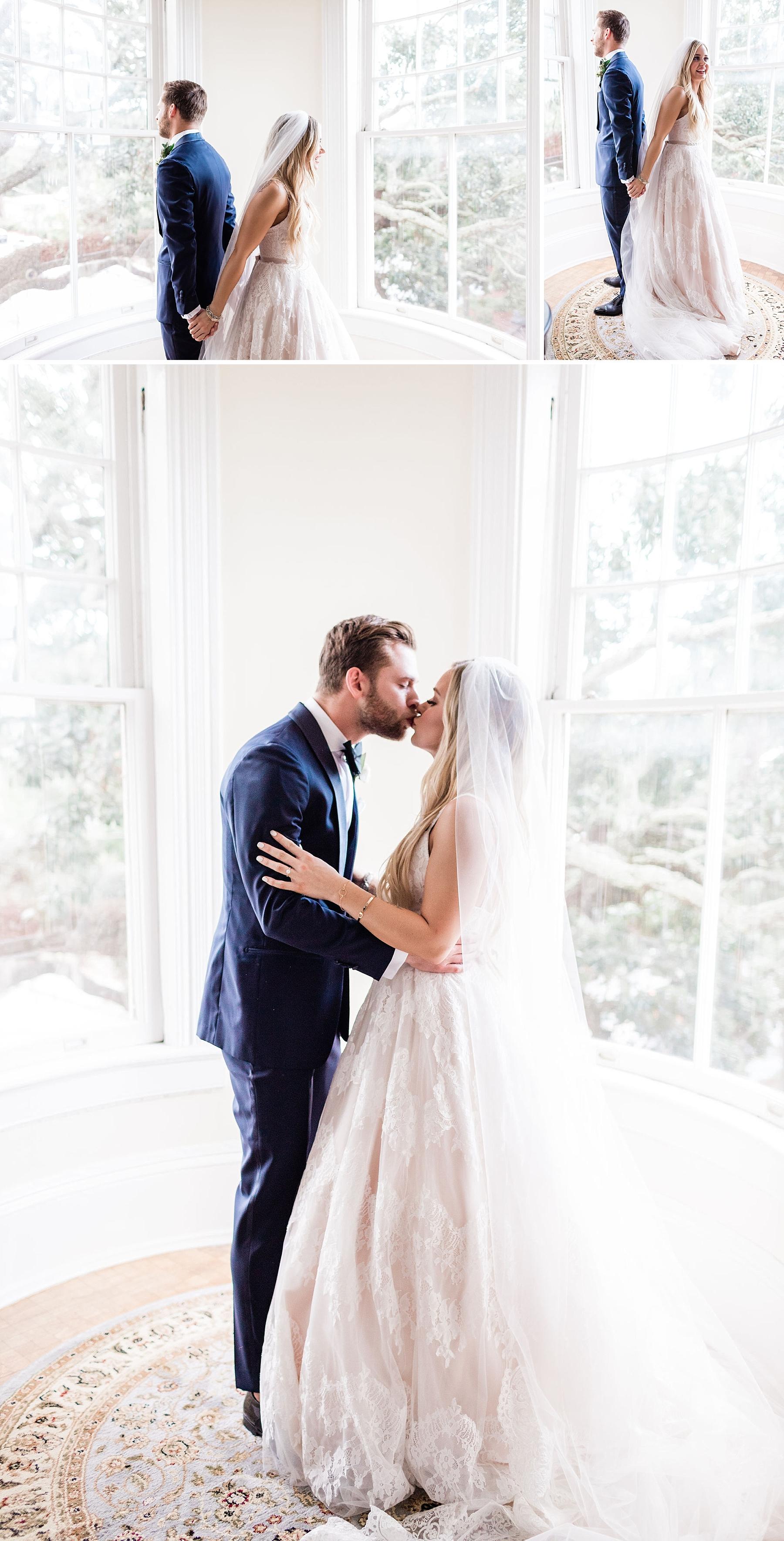 Maddy and Jon's Savannah Wedding - First Look | Apt. B Photography