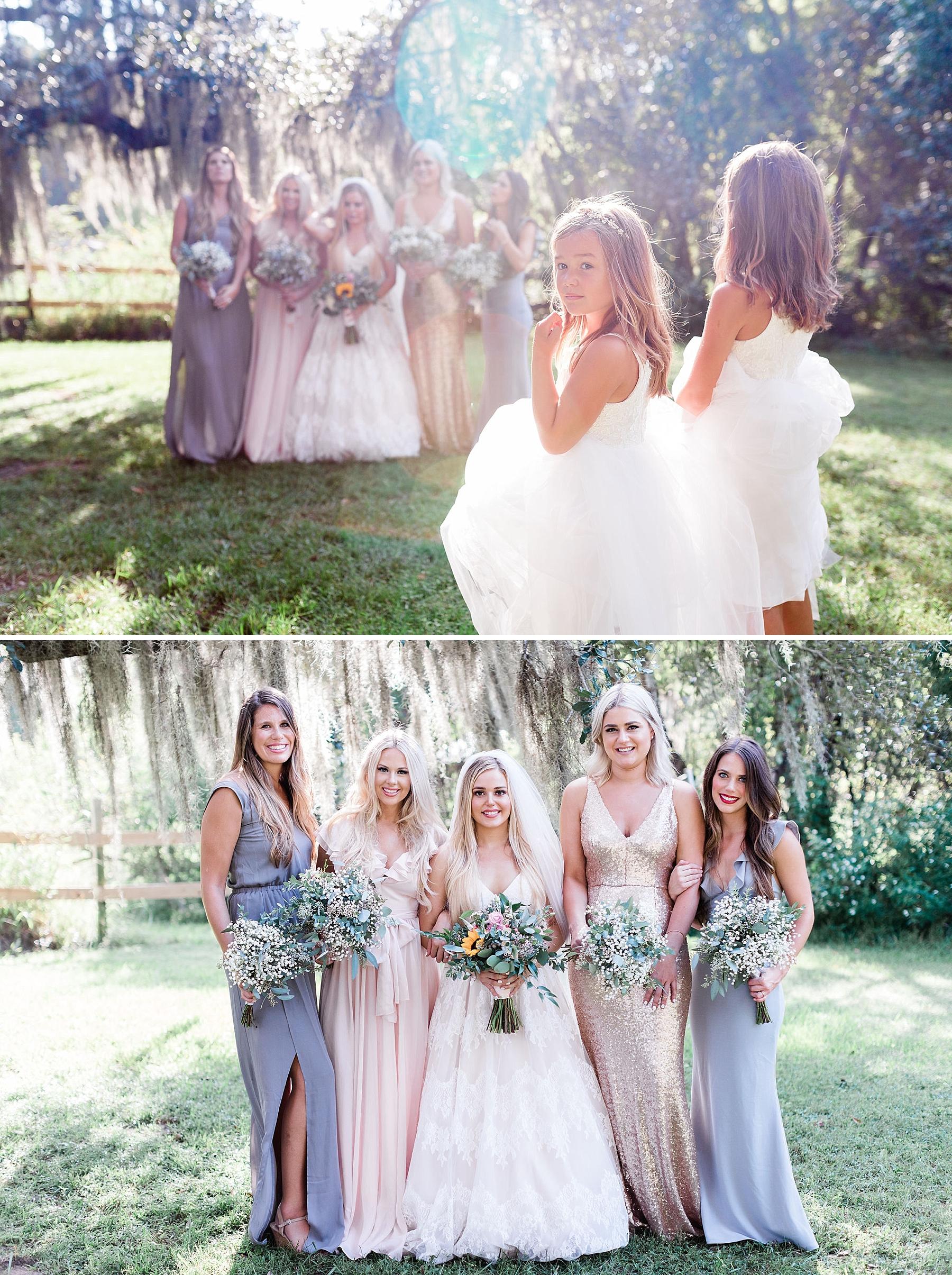 Maddy and Jon's Savannah Wedding - Red Gate Farms Wedding - Mismatched Bridesmaids | Apt. B Photography