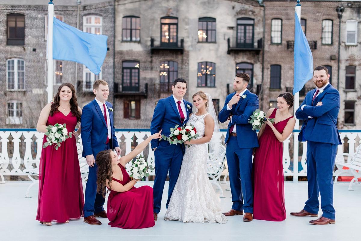 Red Bridesmaids - Savannah Wedding Photographer | Apt. B Photography