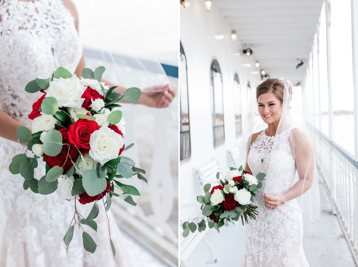 Red white and blue winter wedding in Savannah, Georgia | Apt. B Photography
