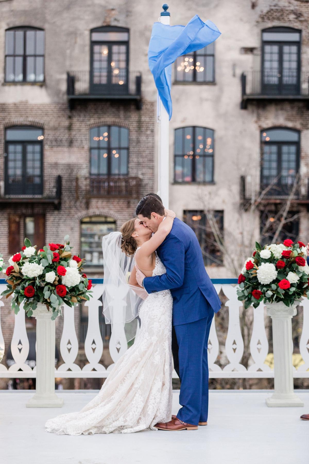 Georgia Queen River Boat Wedding - Savannah Wedding Photographer