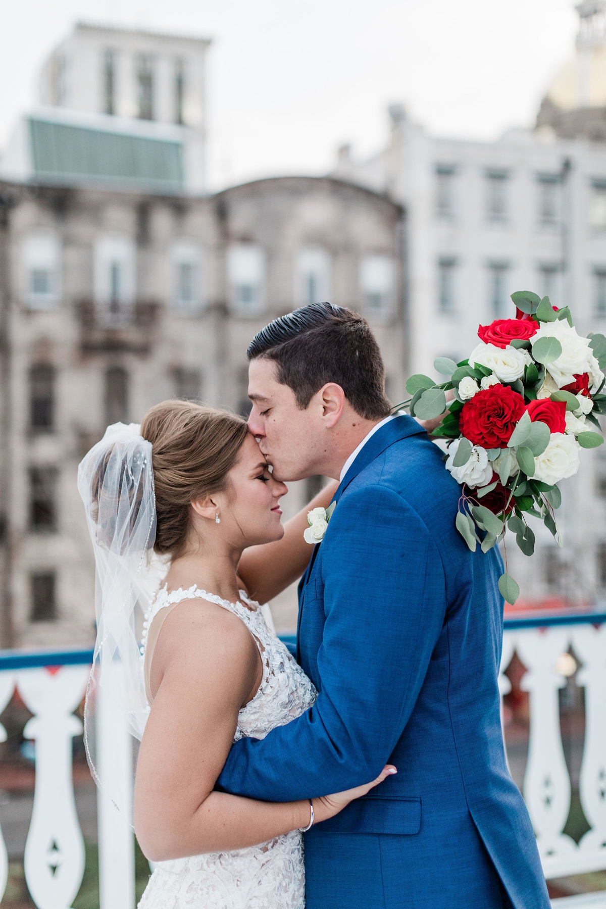 Red, white and blue Savannah Wedding | Apt. B Photography