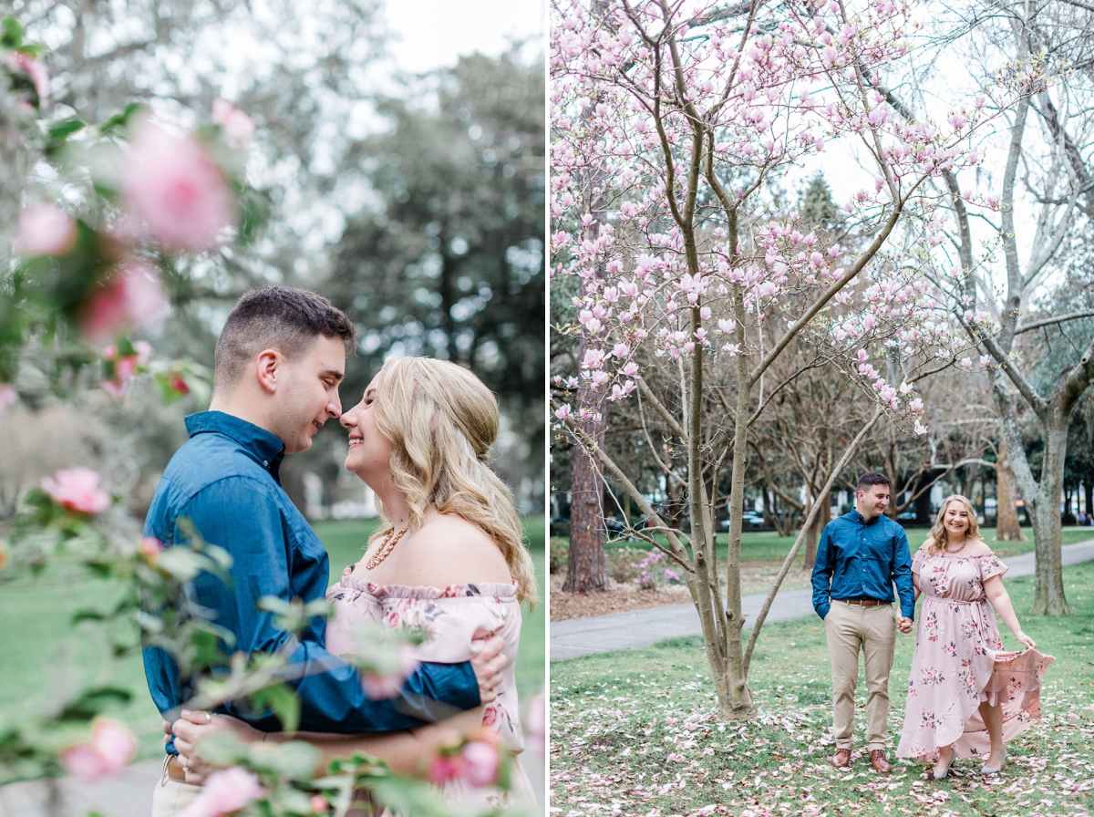 Spring Forsyth Park Engagement Session, Spring Engagement   Apt B Photography