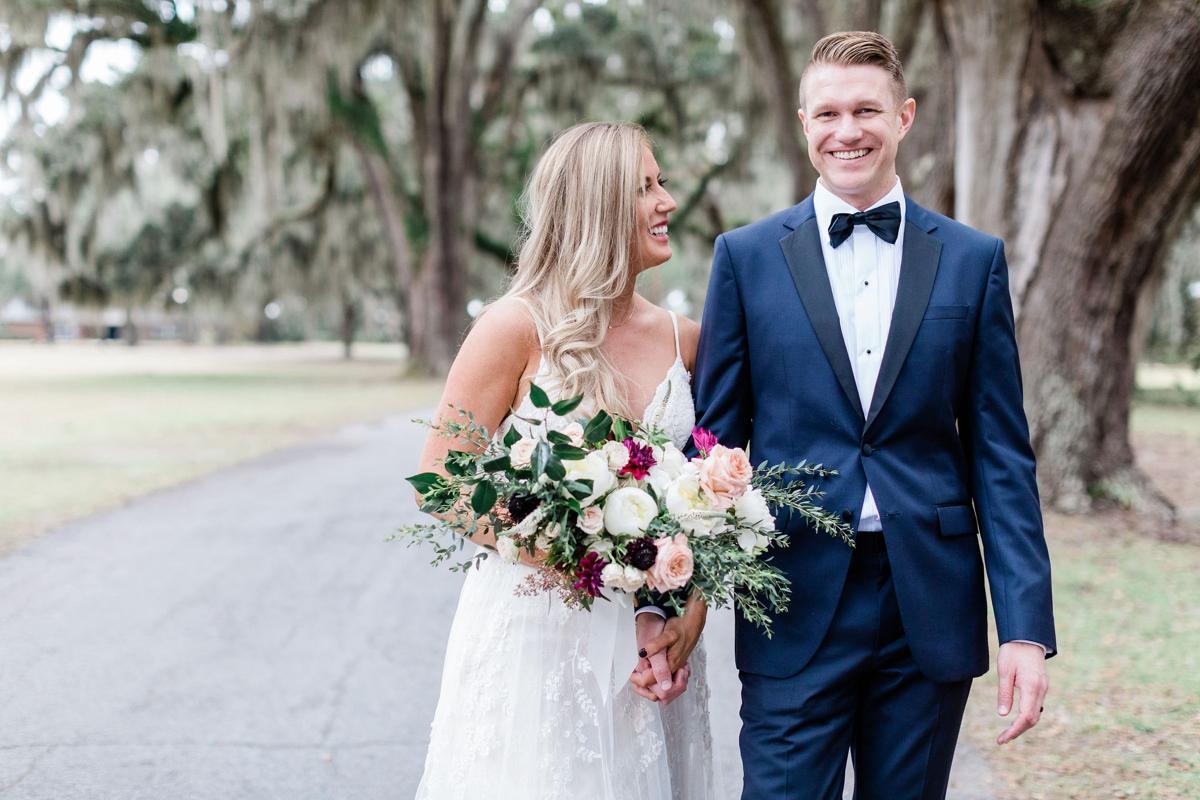Intimate elopement in Savannah, Georgia at Whitefield Chapel