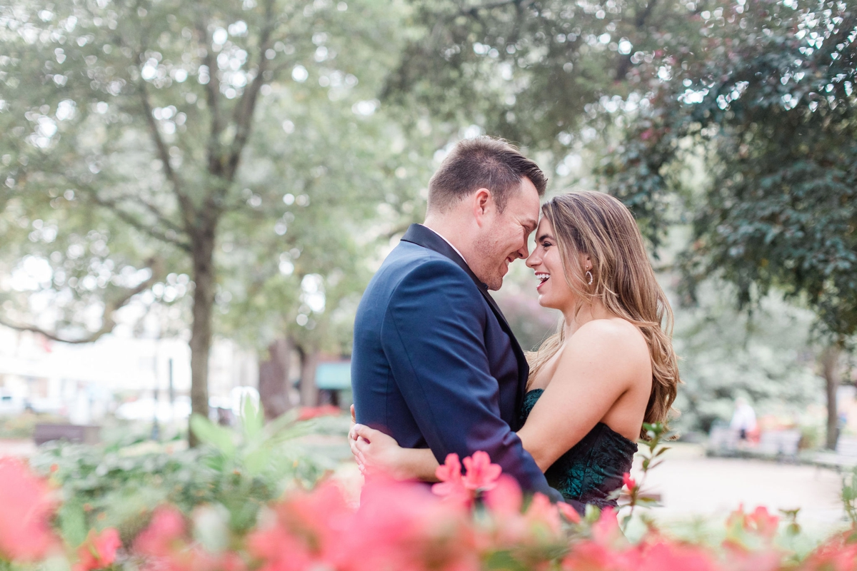 Formal engagement outfit, Spring Engagement Session in Savannah, Georgia