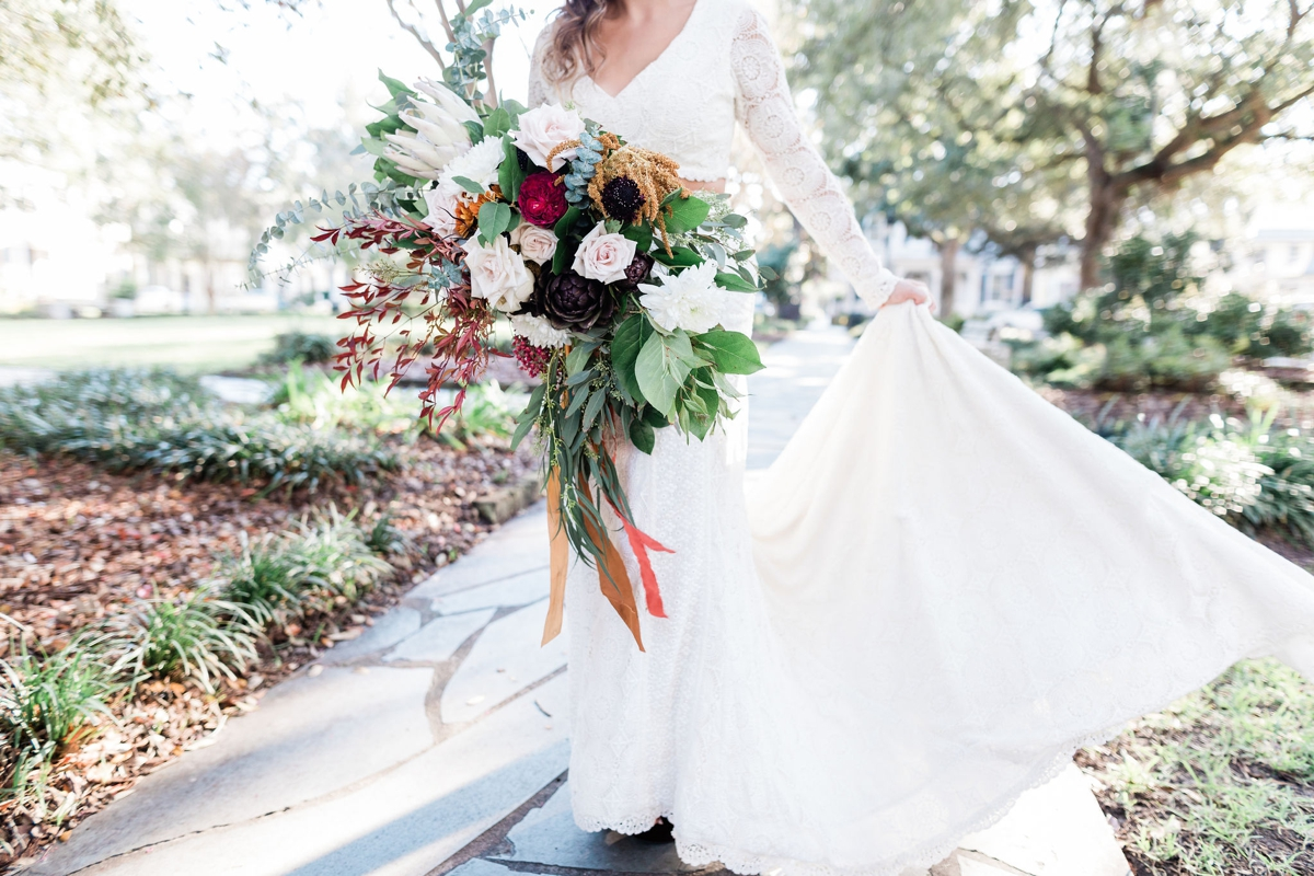Bride in Brit by Daughters of Simone - Boho bride - Apt B Photography - Savannah wedding photographer