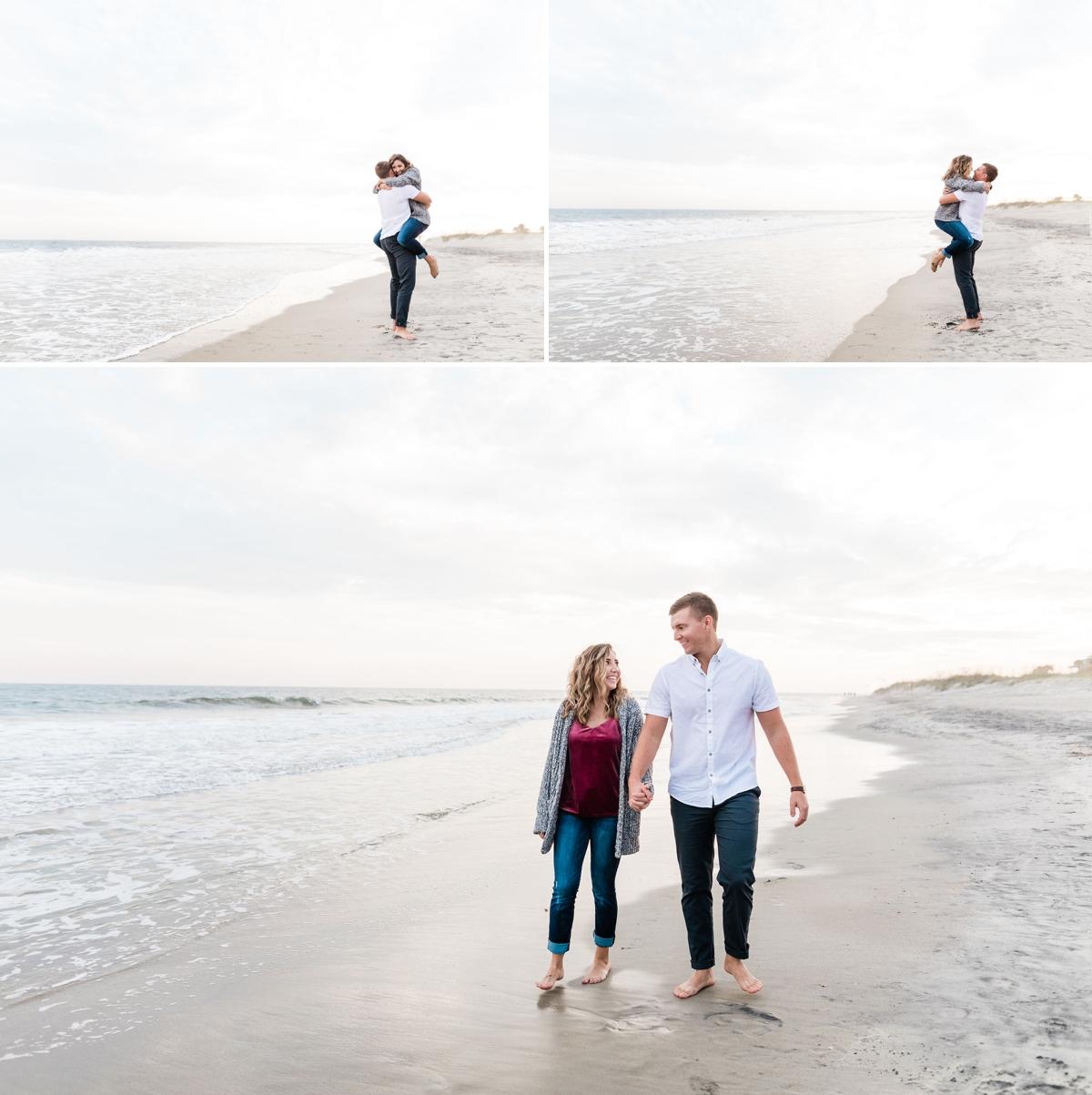 Sunset Beach Engagement Session at Tybee Island - Savannah Engagement Photographer