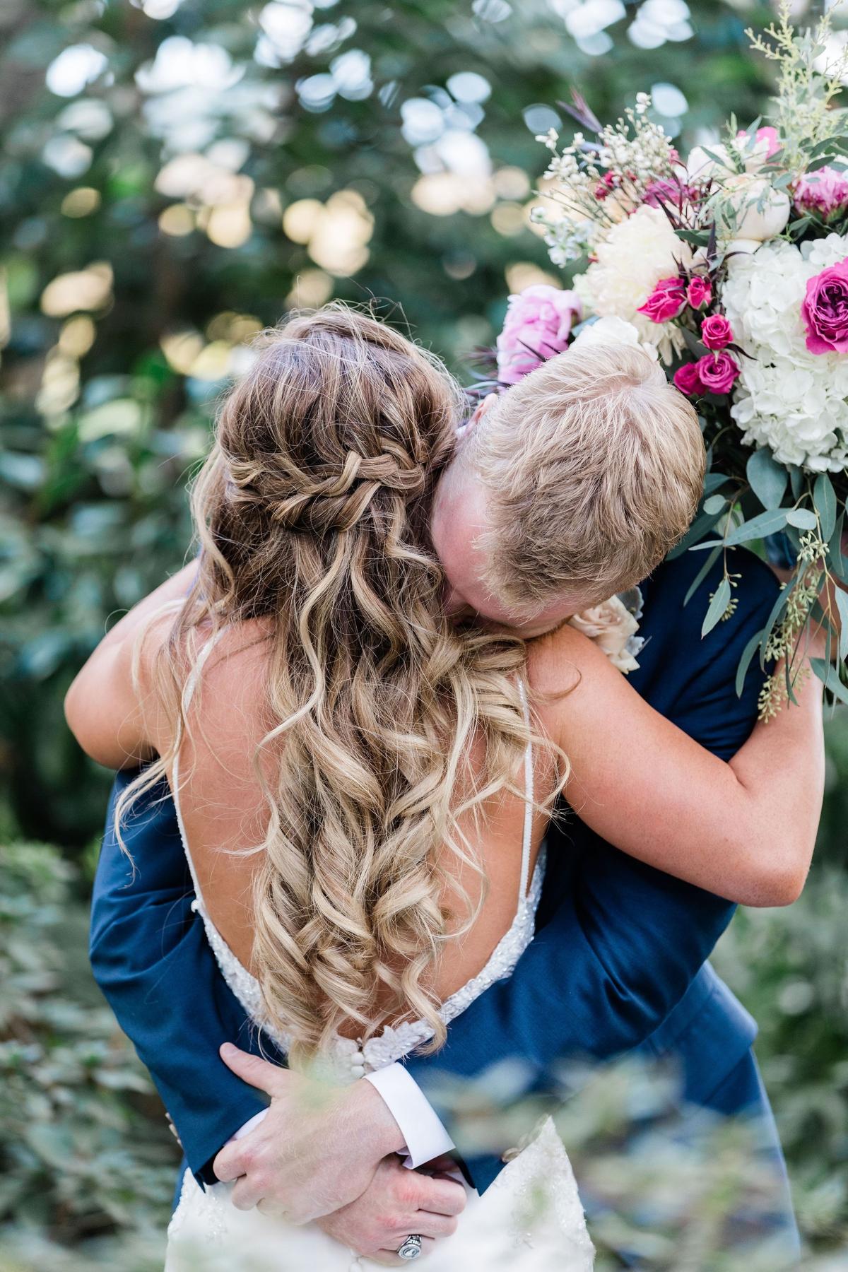 Bride and groom portraits at Creek Club - Charleston wedding photographer