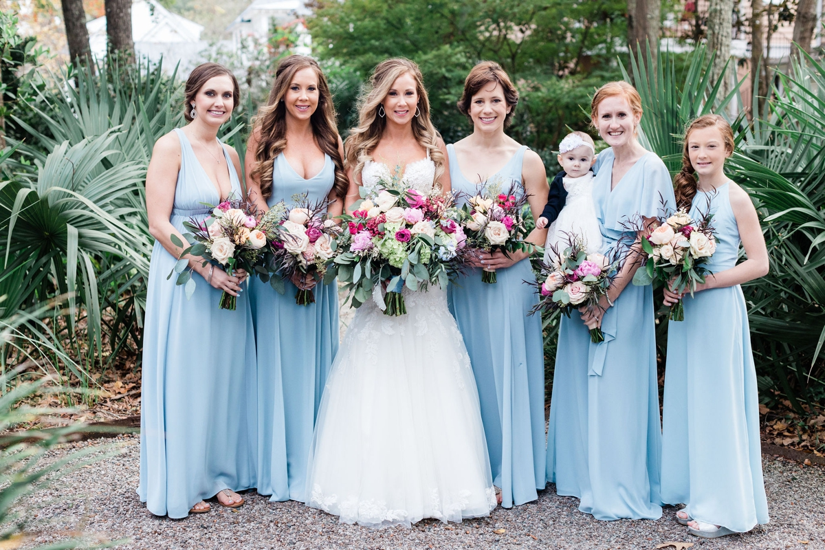 Dusty blue bridesmaids - Apt. B Photography