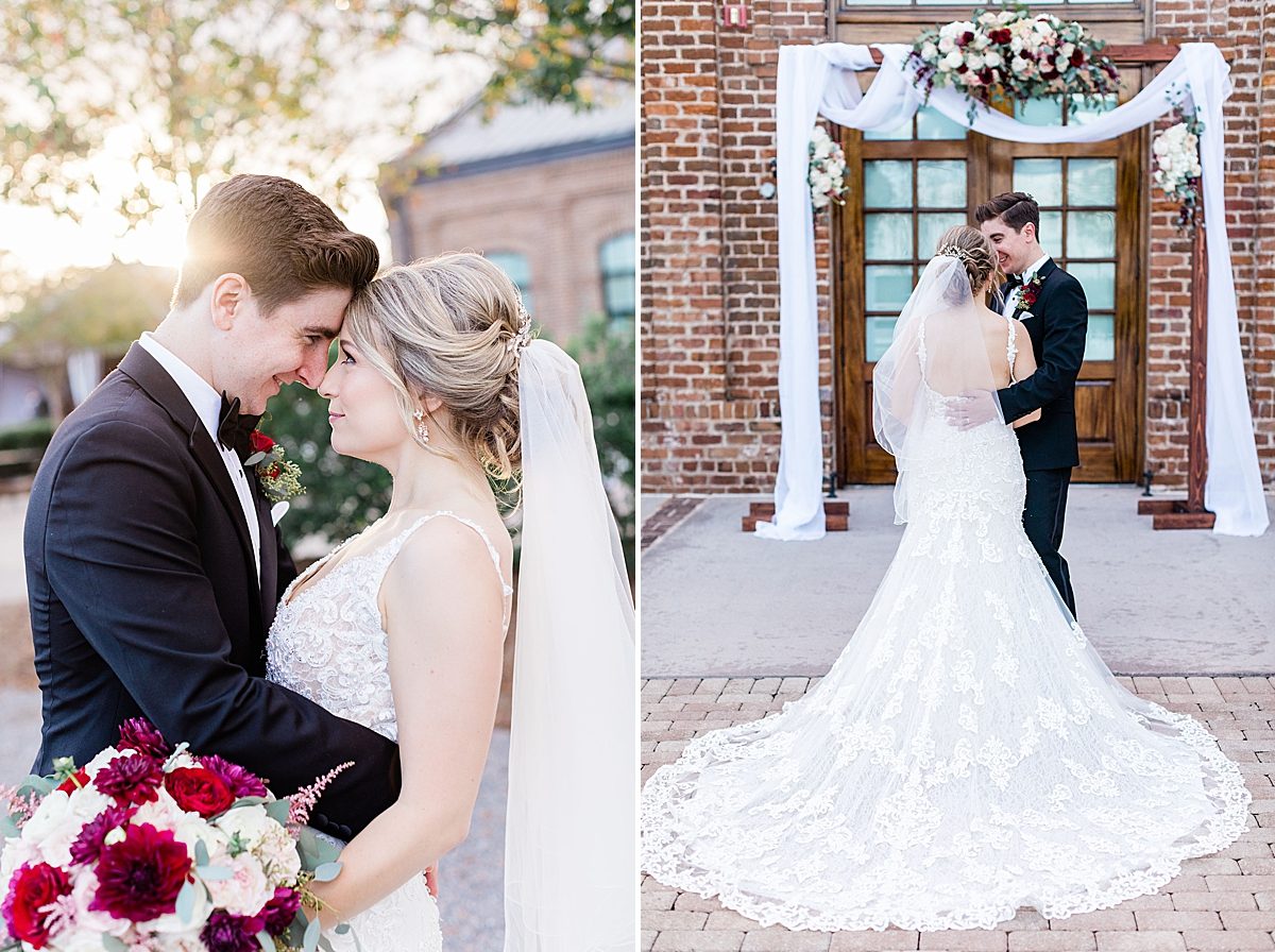 First look Kate and Anthony's Historic Savannah Wedding Apt B Photography