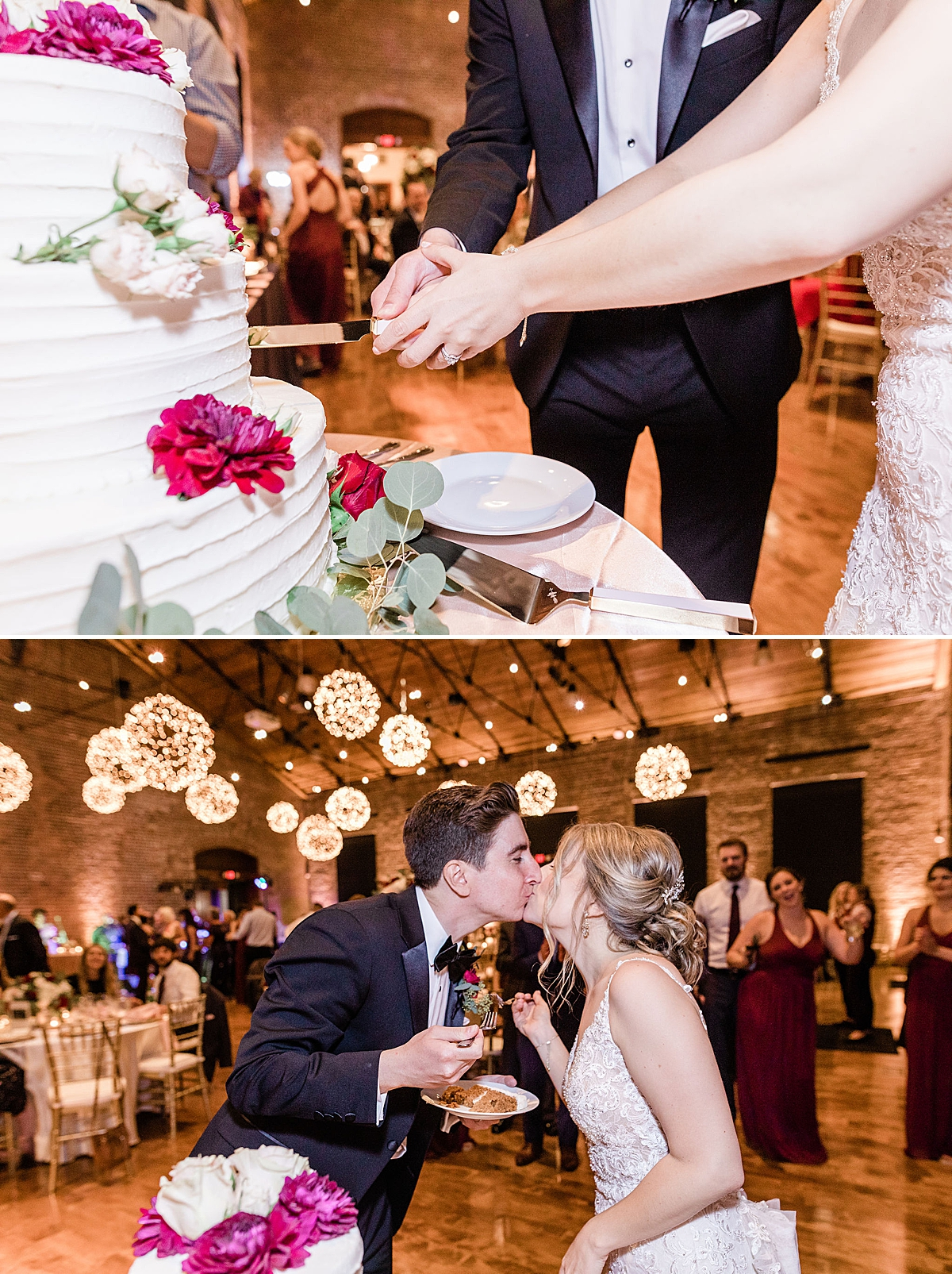 Cake cutting at Kate and Anthony's Historic Savannah Wedding - Apt B Photography