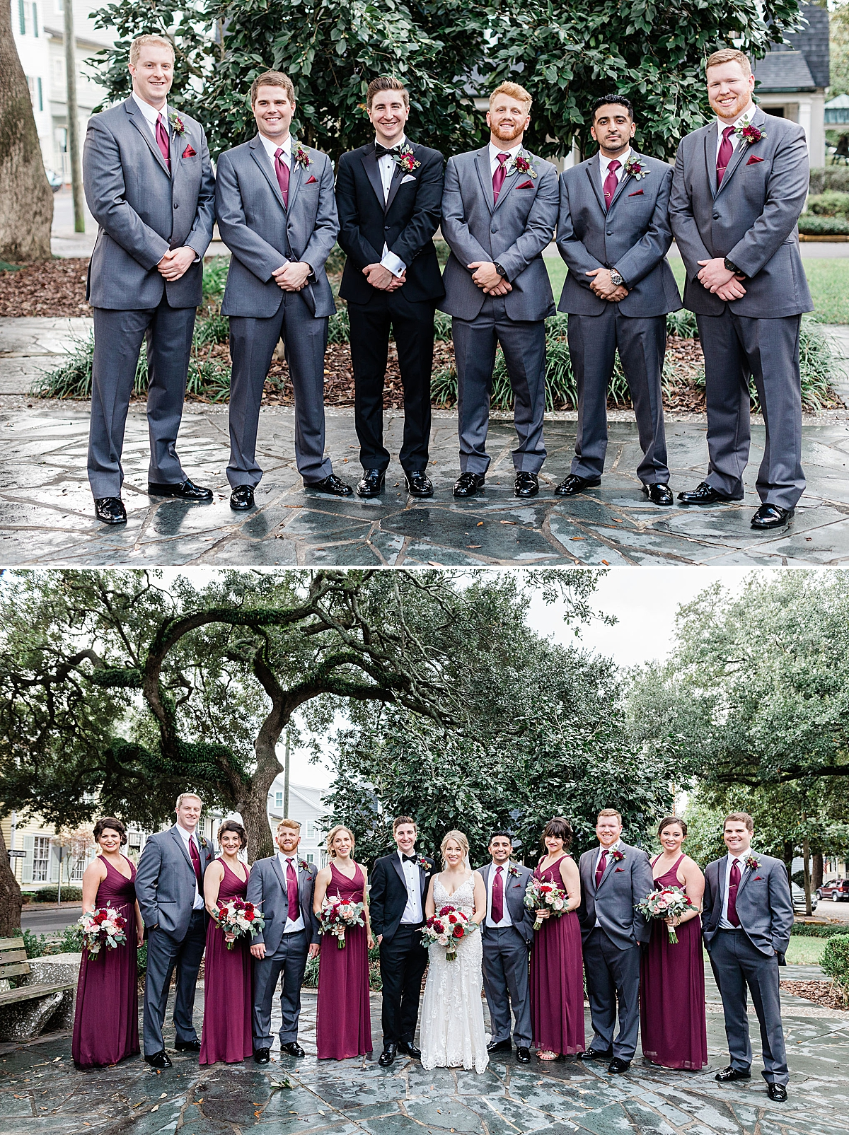 Plum and burgundy fall wedding in Savannah