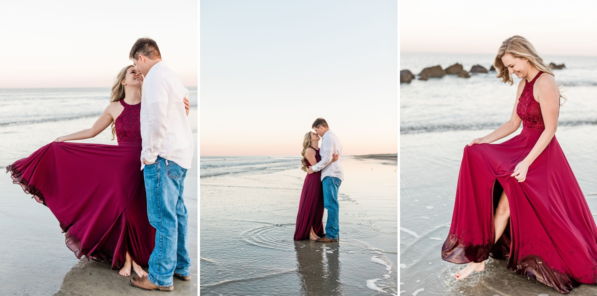 Sunset beach engagement session by Apt. B Photography