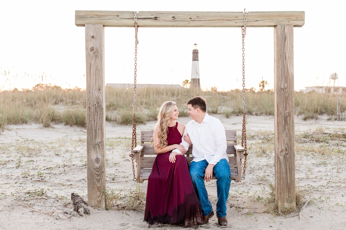 Savannah and Ty's Tybee Island Engagement Session by Apt. B Photography