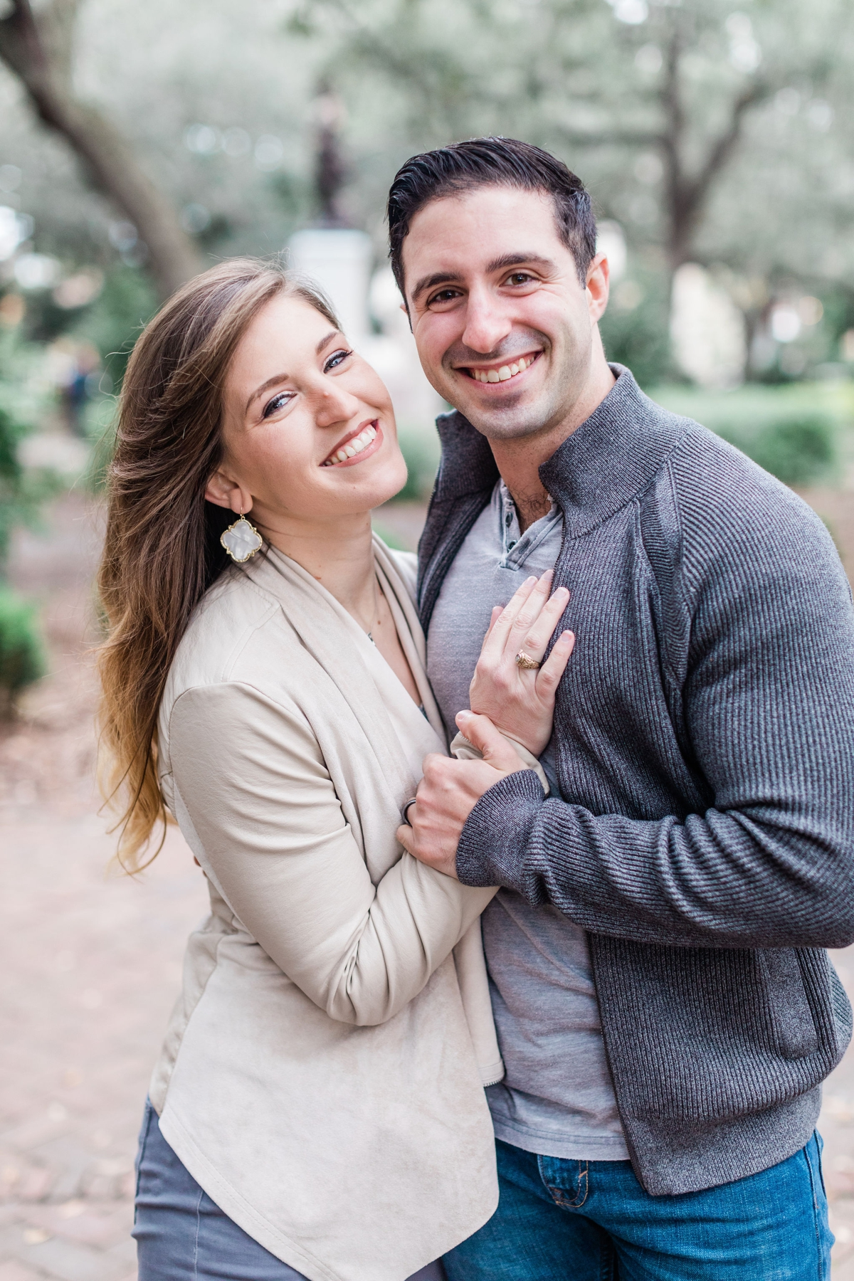 Gina and Charlie's Historic Savannah Engagement Session