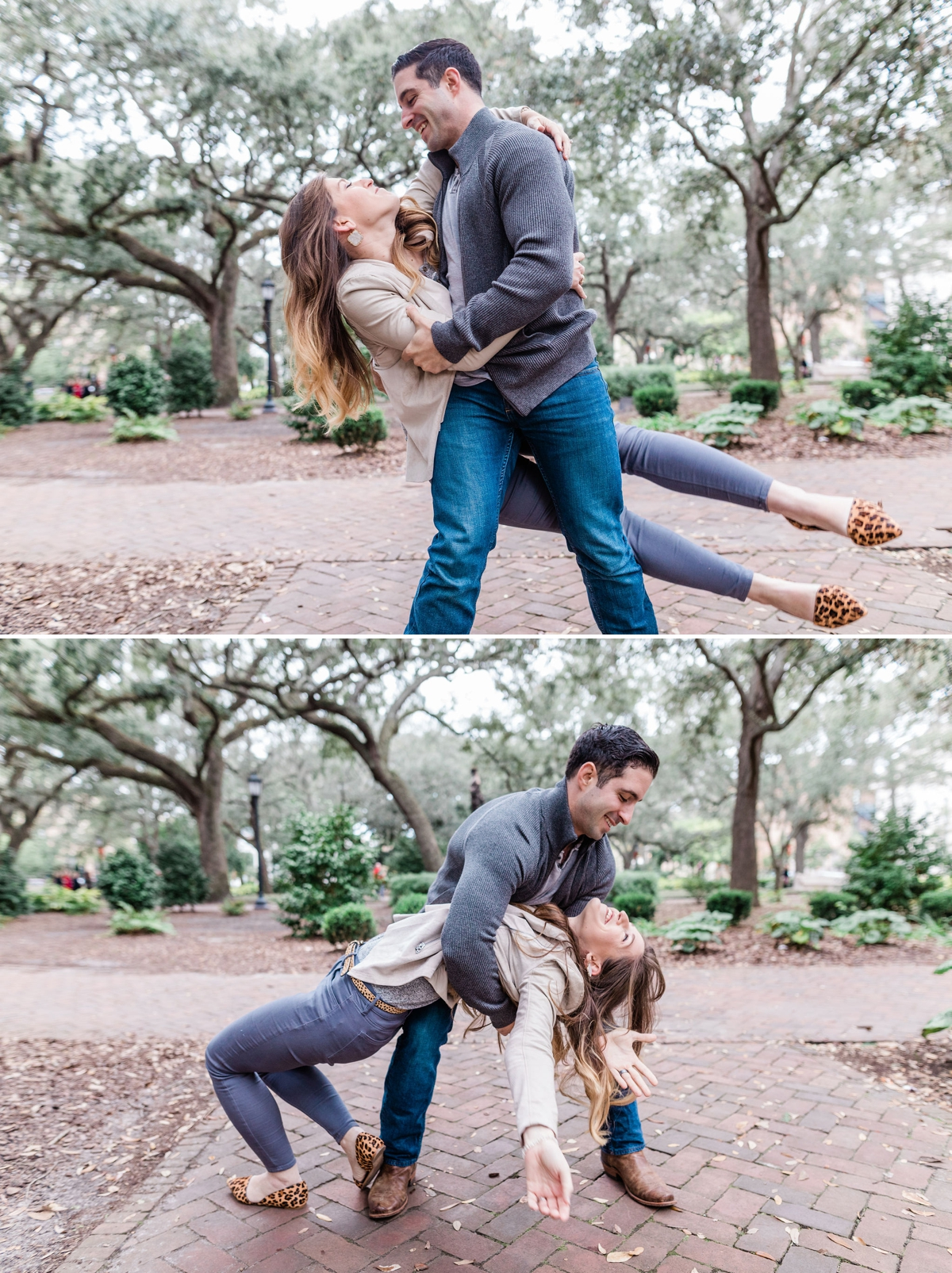 Gina and Charlie's Downtown Savannah Engagement Session