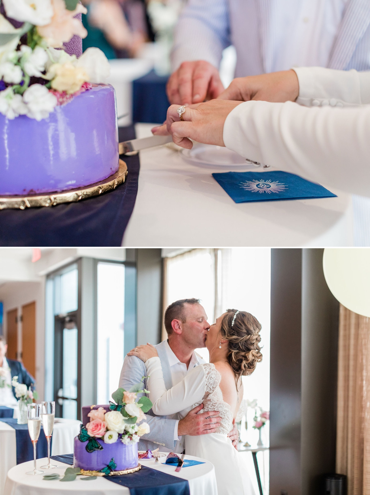 Intimate rooftop wedding ceremony in Washington DC by Apt. B Photography