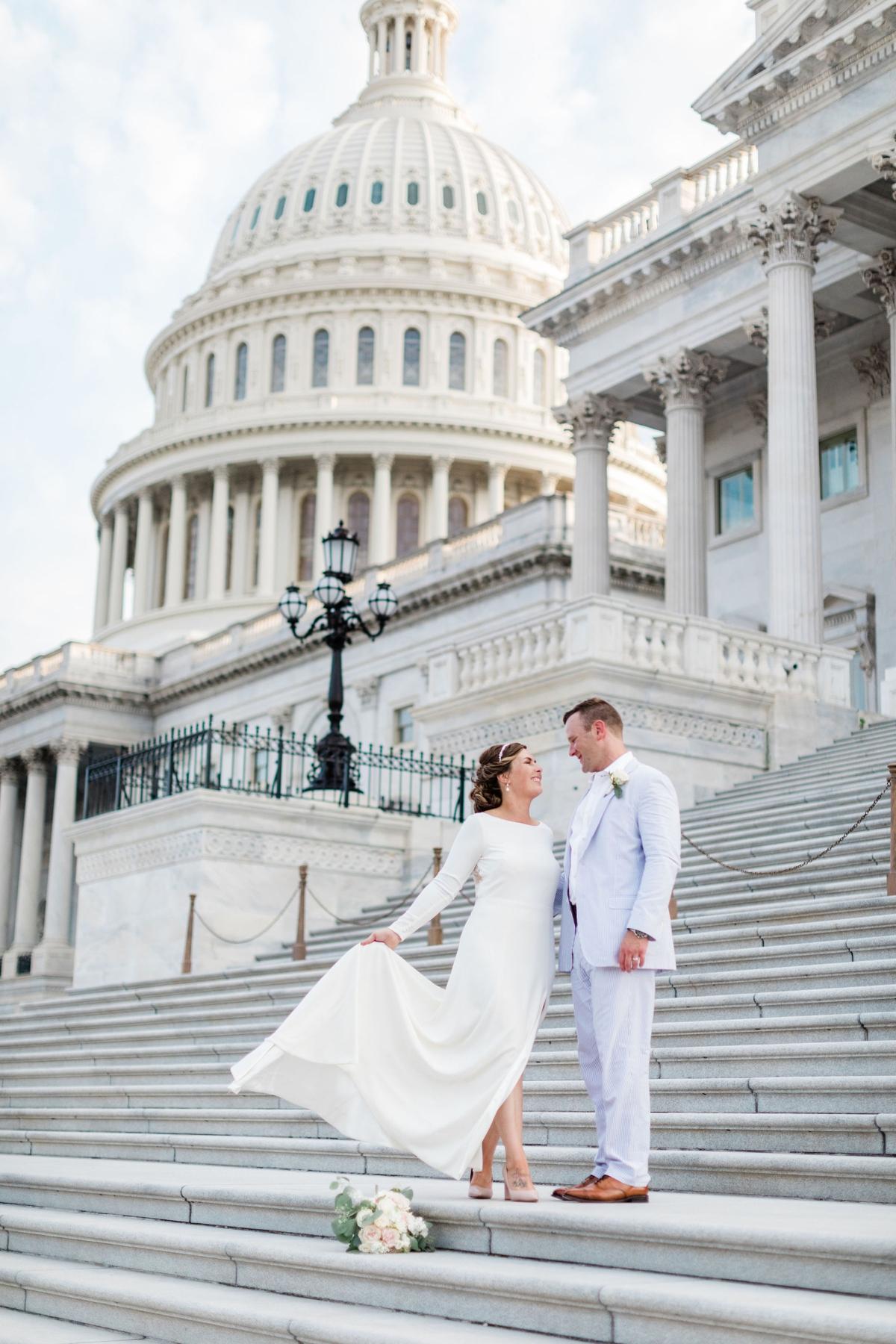 Catie + Carl's Intimate Washington DC Wedding by Apt. B Photography