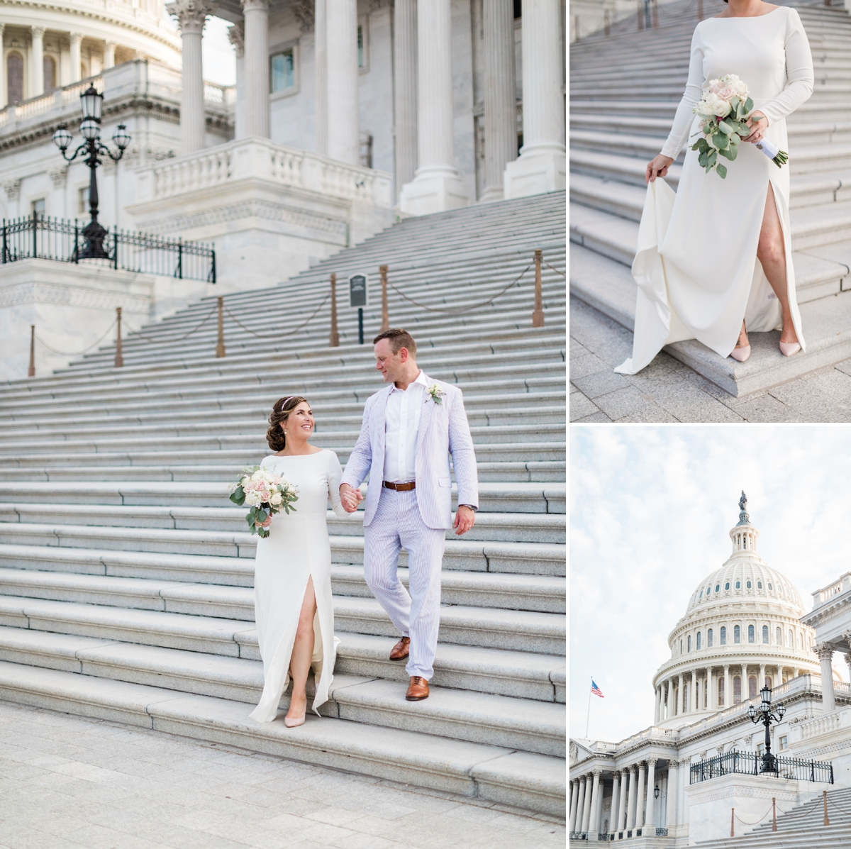 Catie + Carl's Surprise Washington DC Wedding