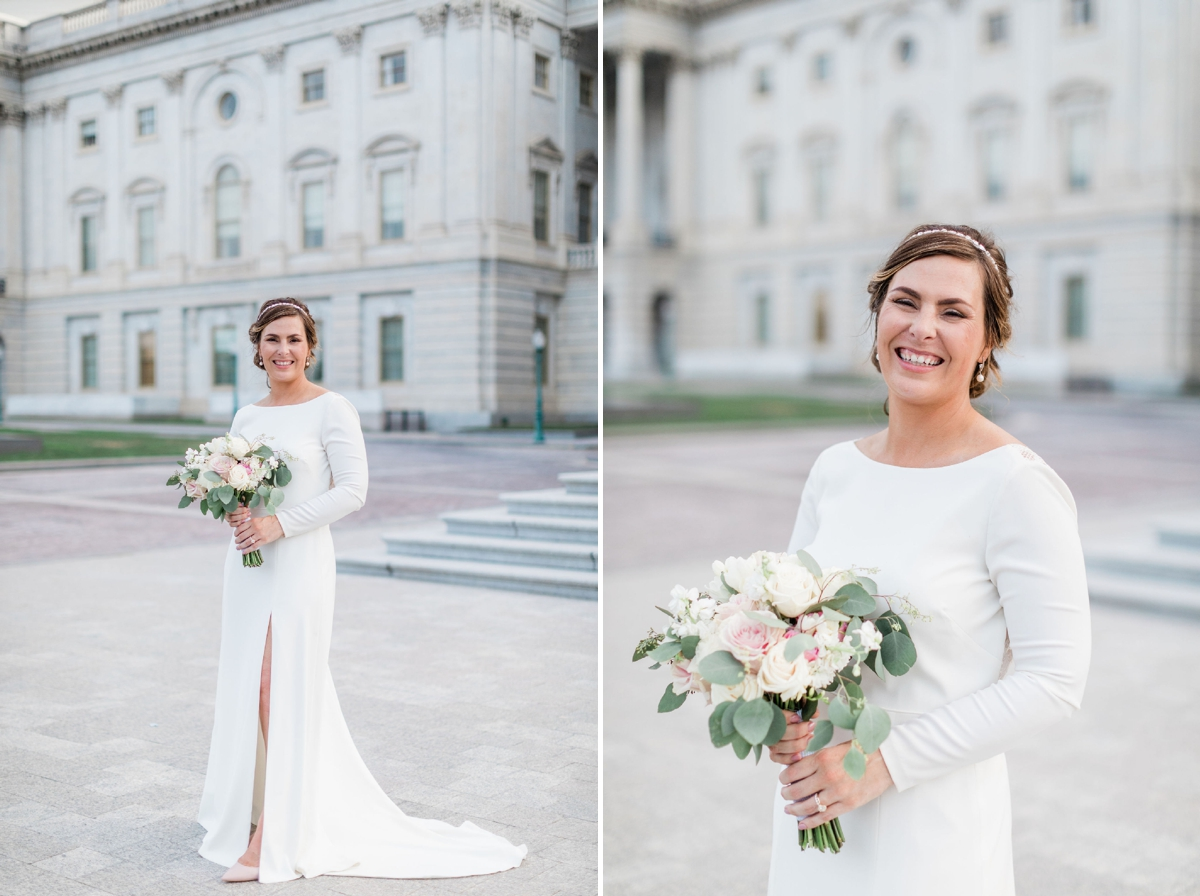 Bride and groom portraits -  United States Capitol