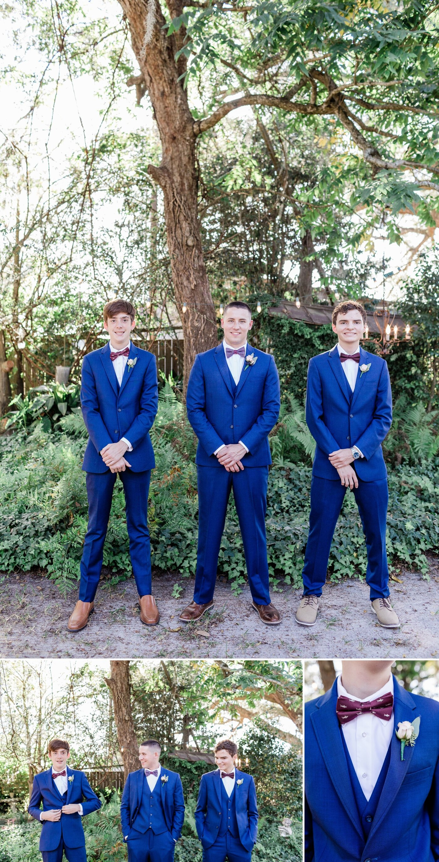 Groomsmen in blue suits | Apt. B Photography