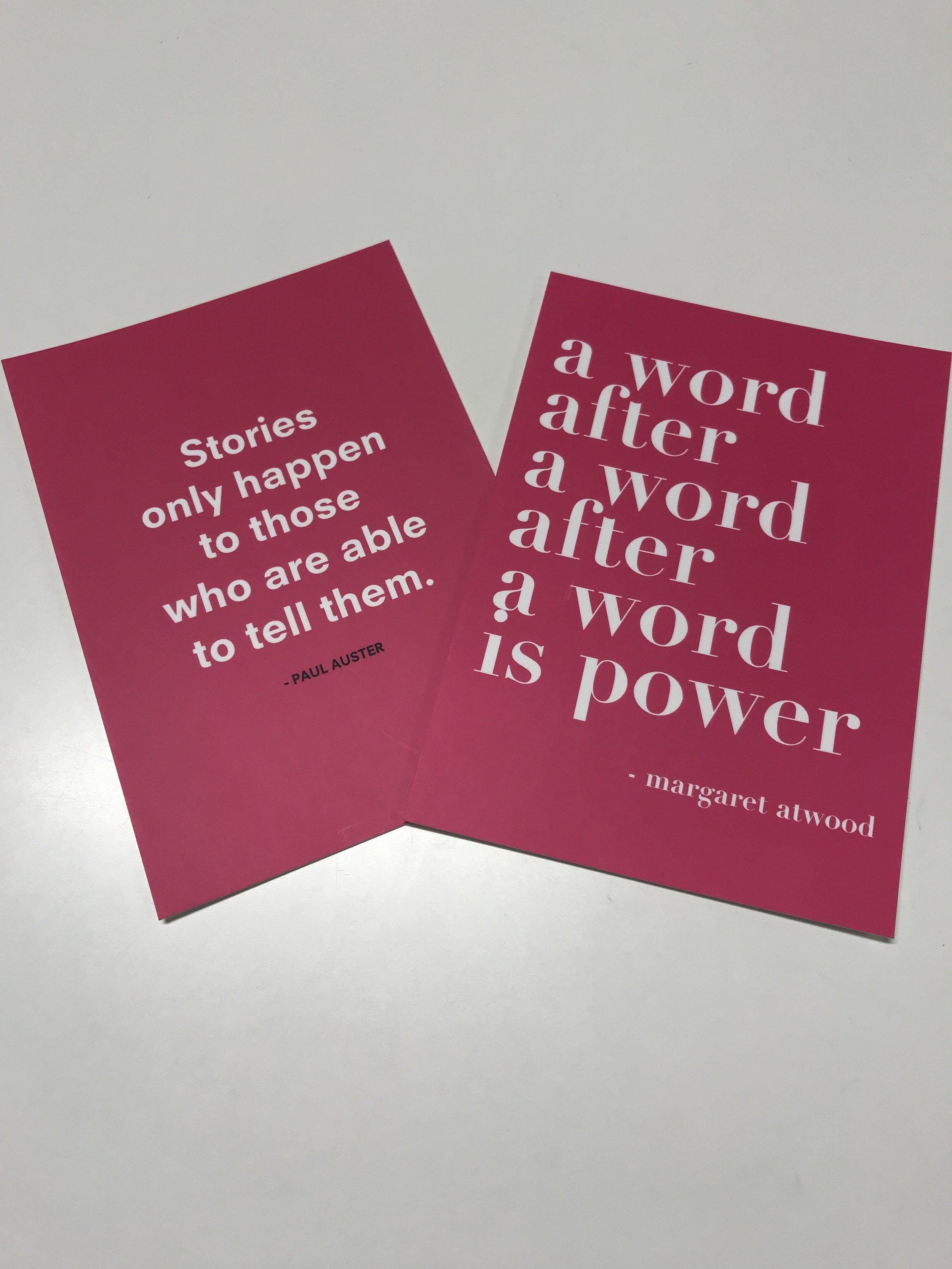 ampersand klanten zullen de postkaartjes herkennen!