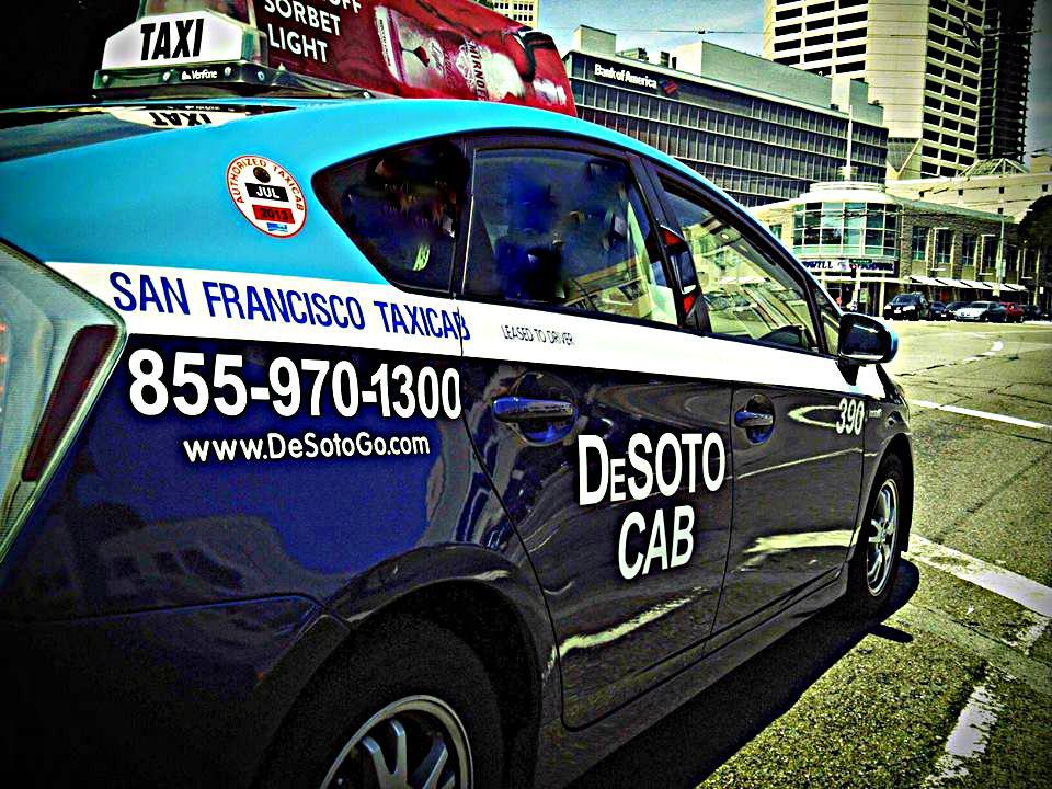 SAN FRANCISCO - In San Francisco California, over 200 taxicabs are installed with the Cachi Mirror.