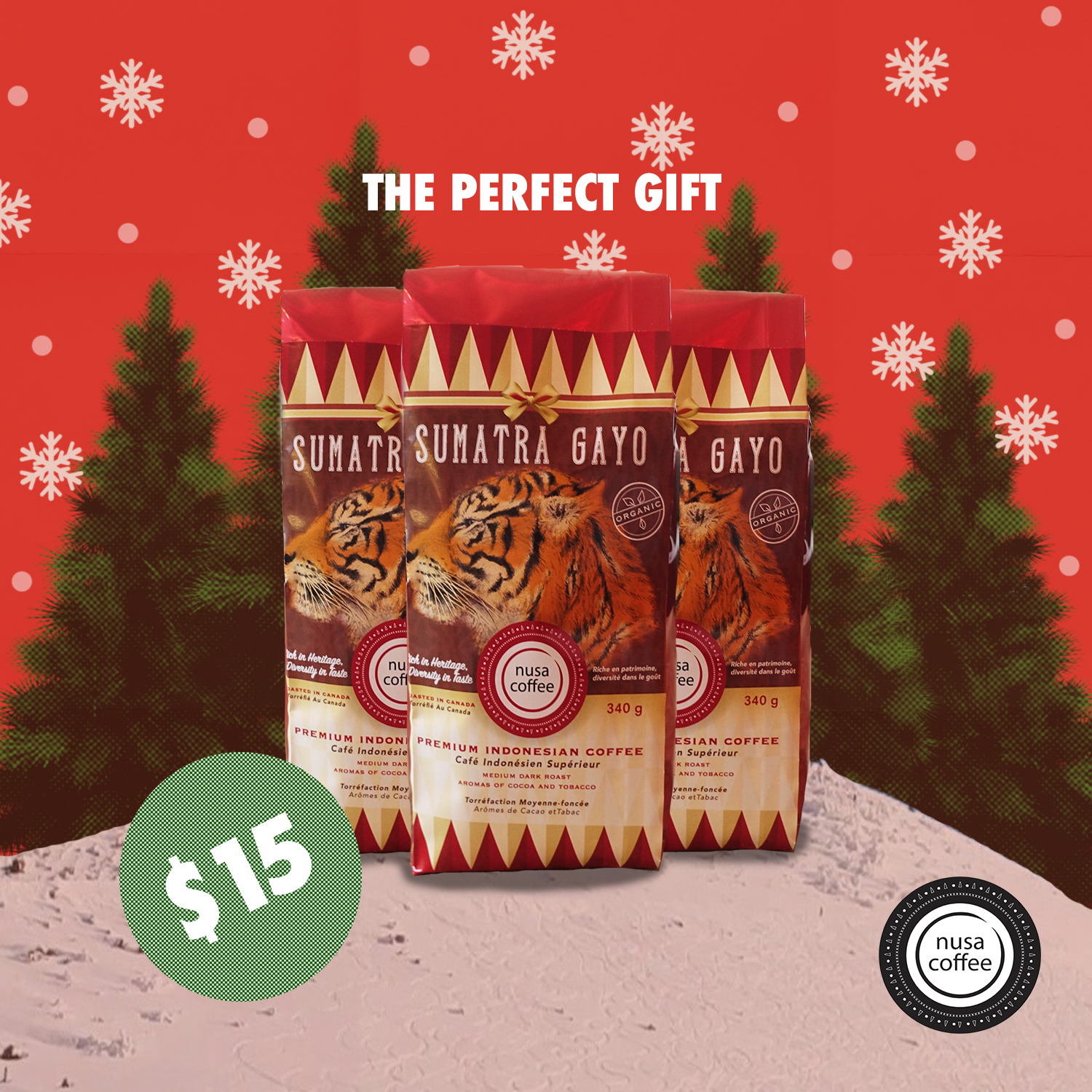 Christmas is just around the corner and we have the perfect gift for your coffee lovin' loved ones! Our 340gr Gayo Beans are now on sale for a special price, only this month