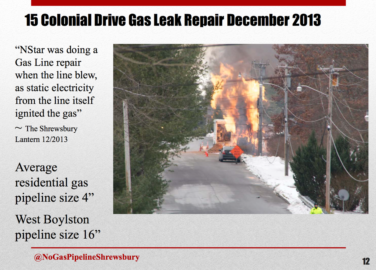 Gas pipe explosion on 15 Colonial Drive, Shrewsbury, December 27, 2013.