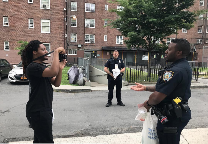 Sincere Lesane interviews Neighborhood Officers as part of Red Hook Reporters